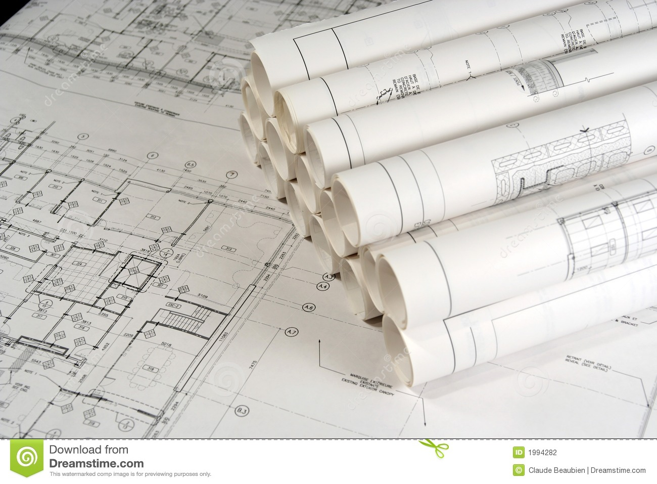 Engineering and architecture drawings 2 stock photo for Printing architectural drawings