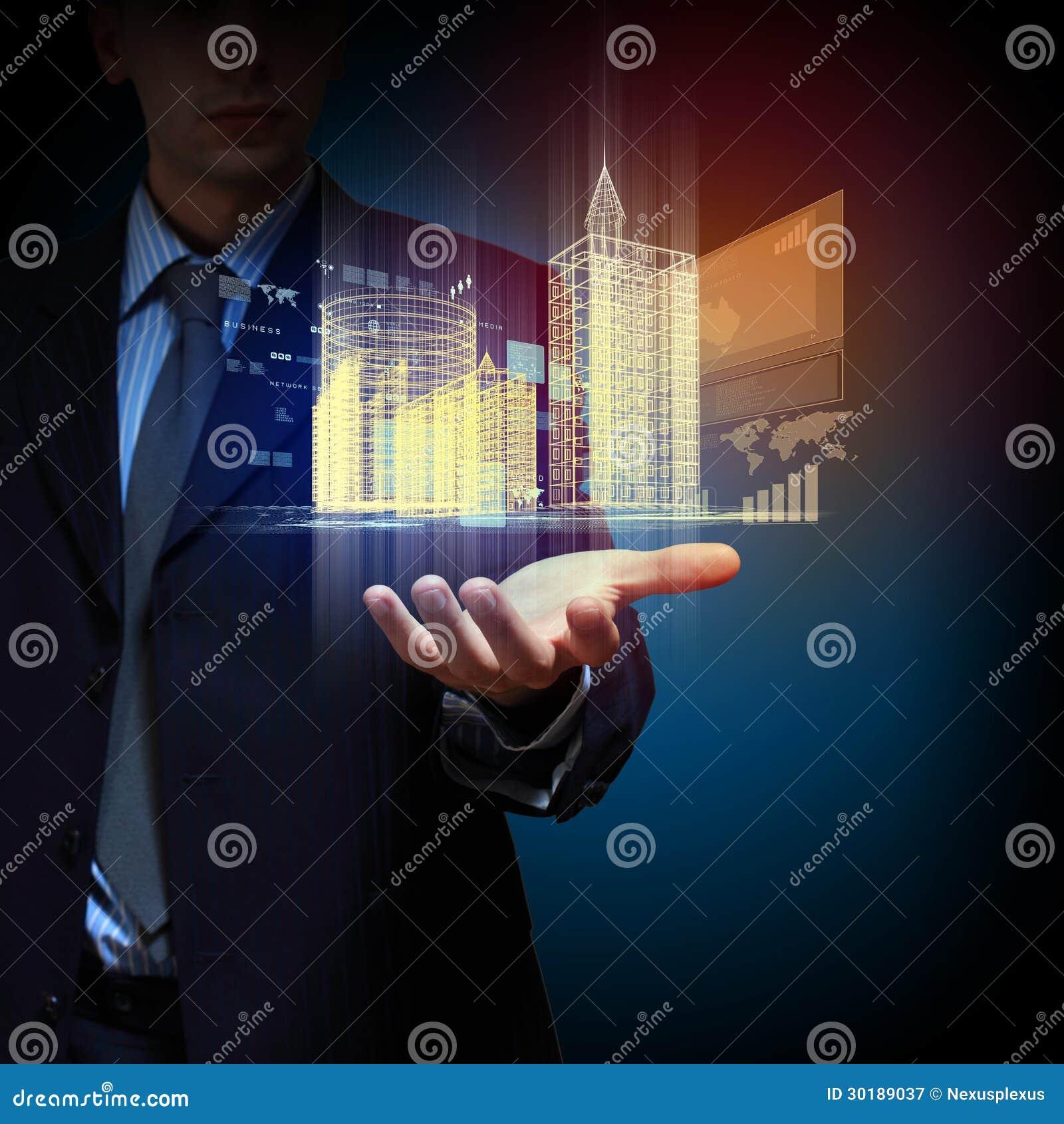 Engineering Automation Building Design Stock Illustration - Illustration of corporation ...