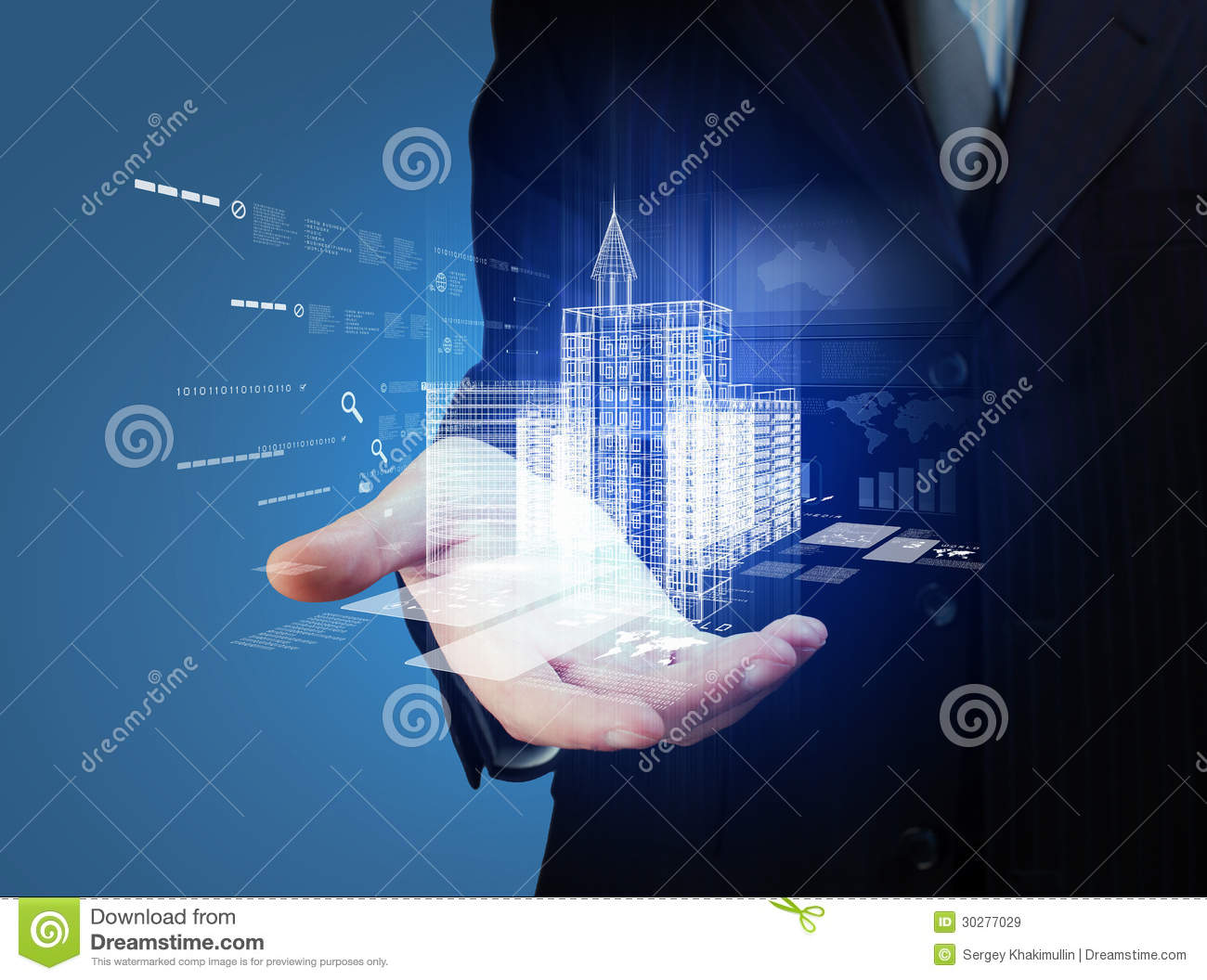Automation Technology: Engineering Automation Building Design Stock Image
