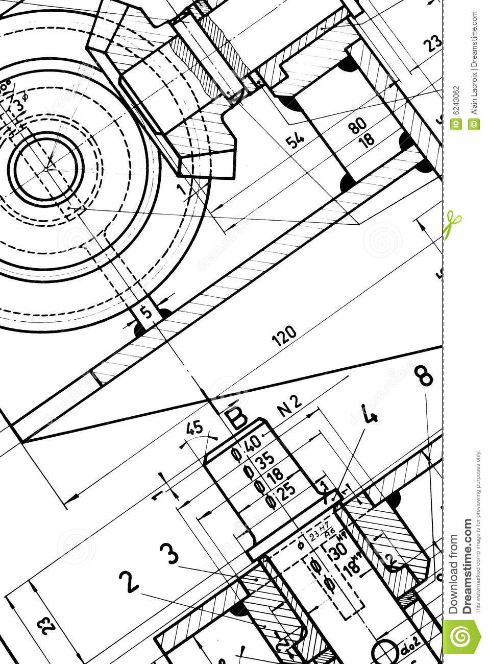Engineering blueprint stock photography image 6243062 for Engineering blueprints