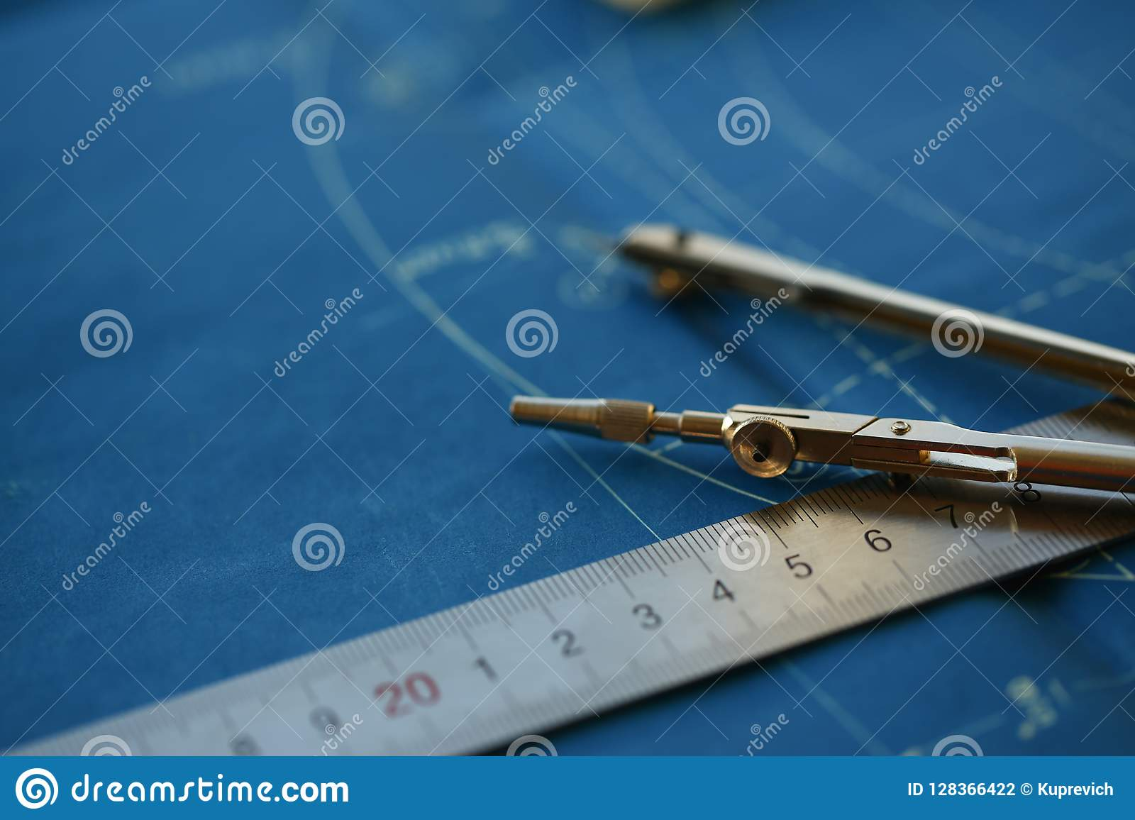 Drawing Engineer Education Design Stock Photo - Image of ...