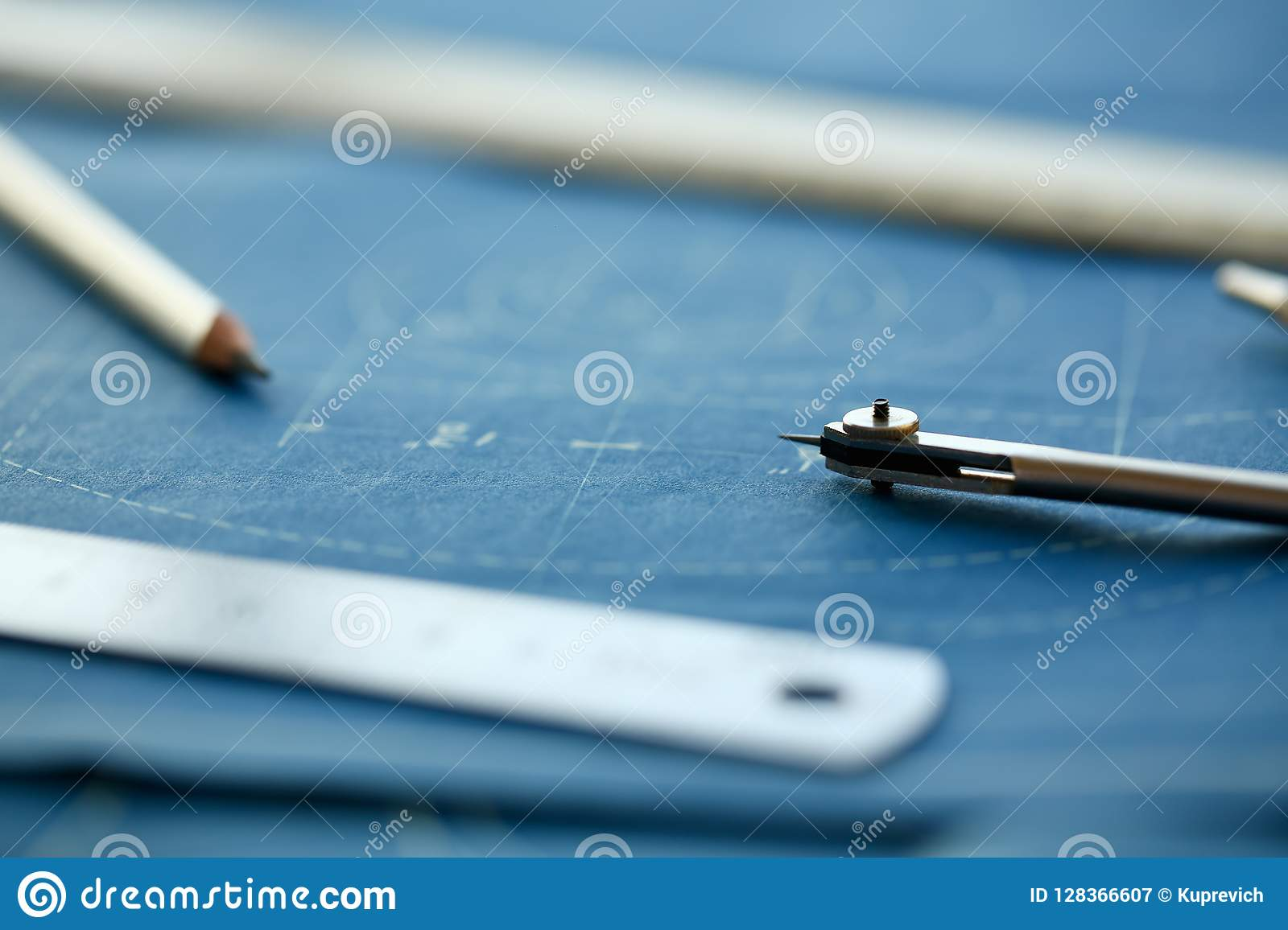 Drawing Engineer Education Design Stock Image - Image of ...