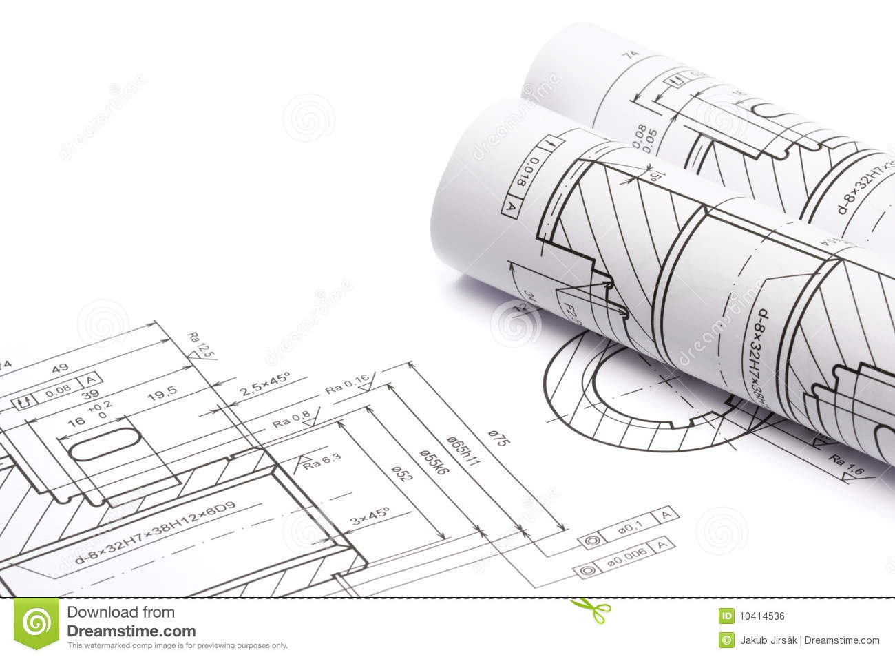 Engineering blueprints stock photo image of toothed for Engineering blueprints