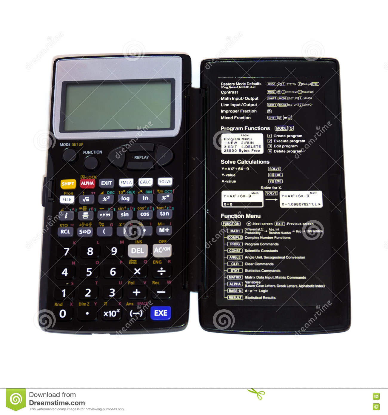 Engineering Calculator Isolated Stock Image - Image of isolated