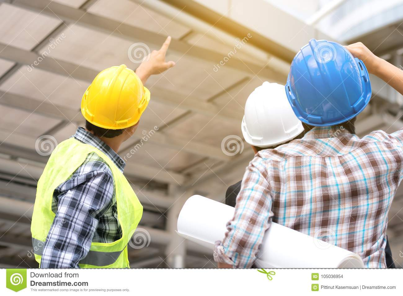 Engineering construction concept : professional engineer team me
