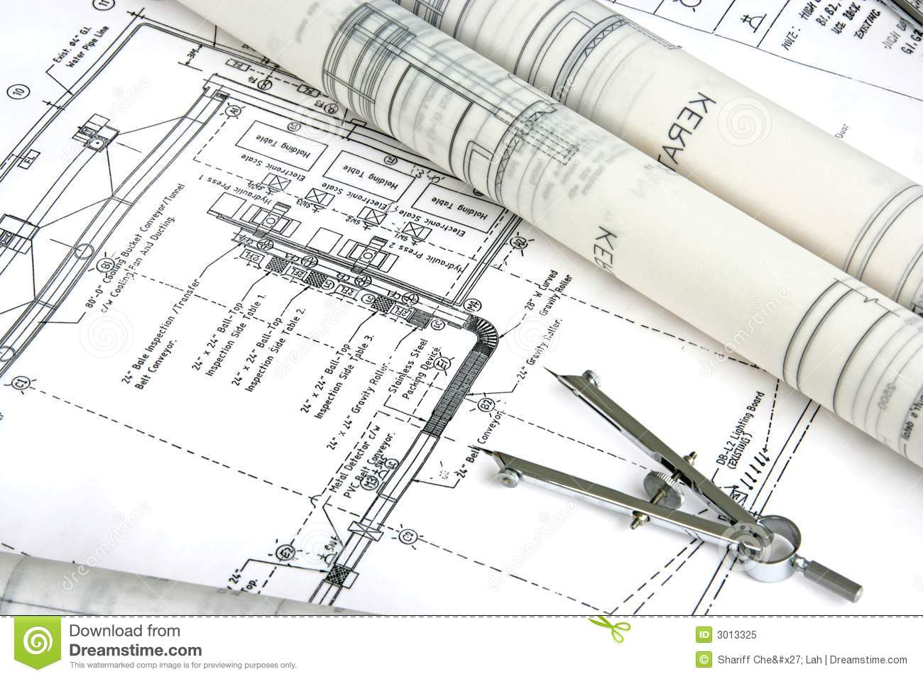 Engineering Design And Drawing Stock Image Image 3013325