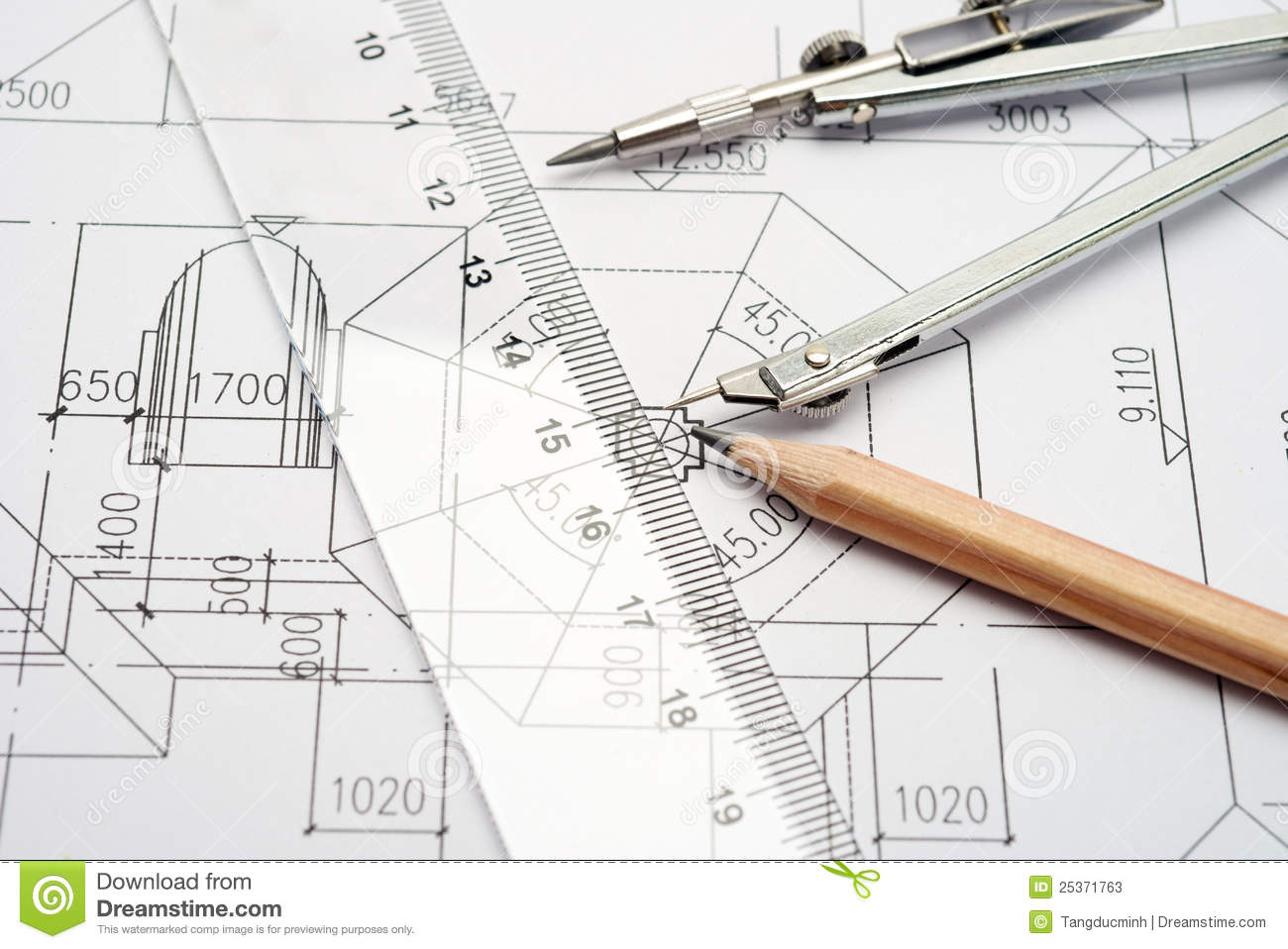 Engineering Design And Drawing Tools Stock Photos Image 25371763