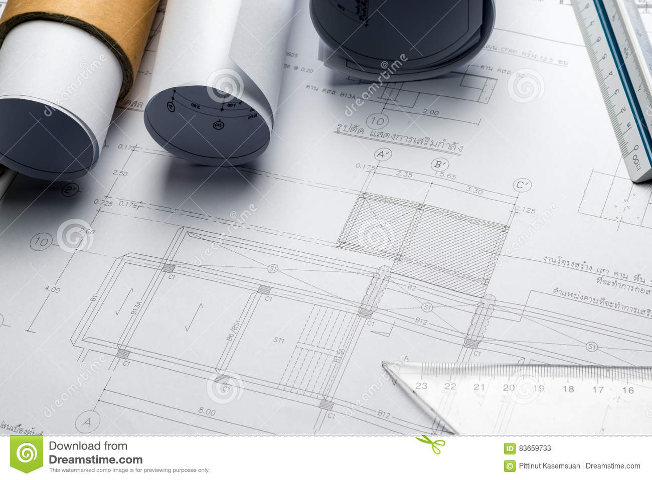 Engineering diagram blueprint paper drafting project sketch stock download comp malvernweather Image collections