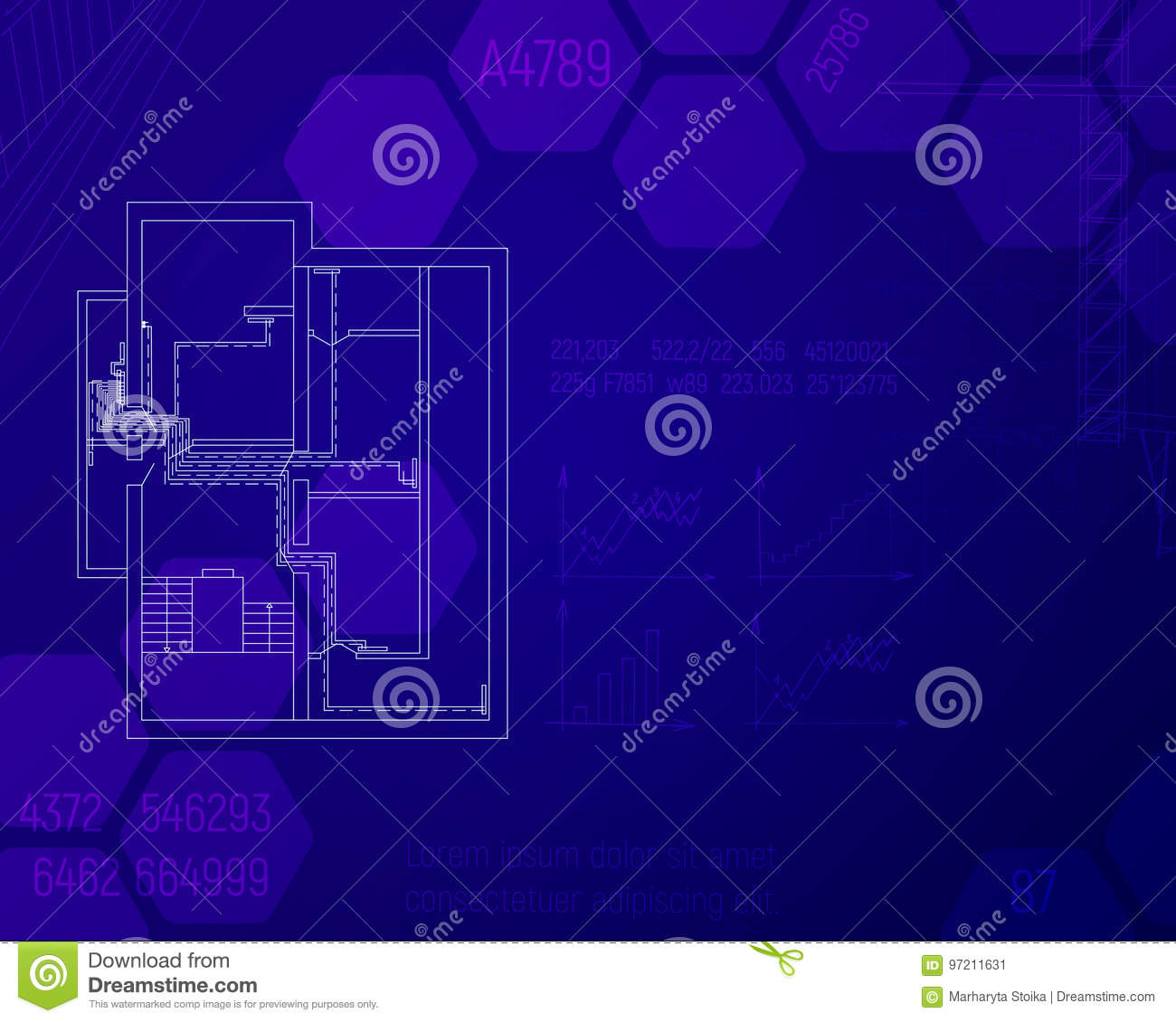 Engineering Draft Of Heating System In The House Concept Hvac Drawing Pictures Blue Sketch Technical