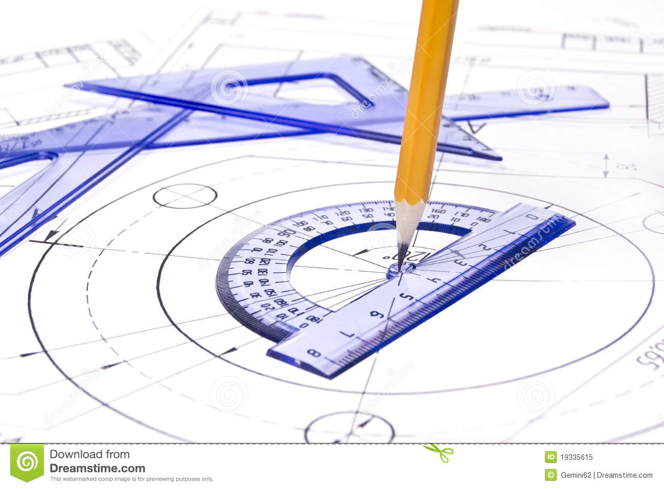 engineering drawing equipment stock image image of print pencil 19335615. Black Bedroom Furniture Sets. Home Design Ideas