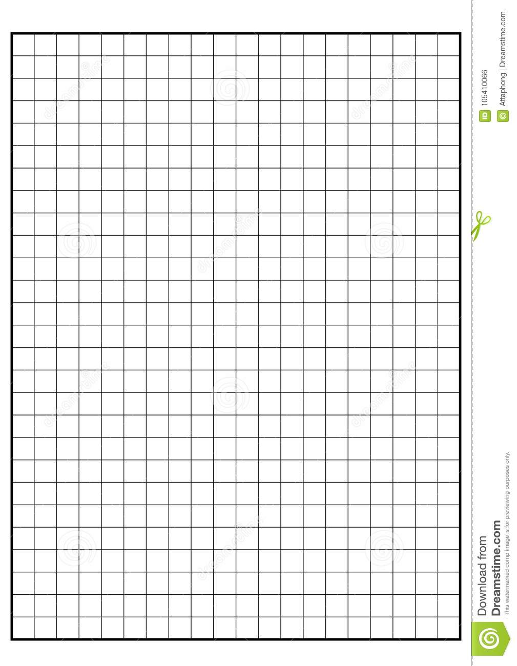 Engineering Graph Paper Printable Graph Paper Vector Stock Vector