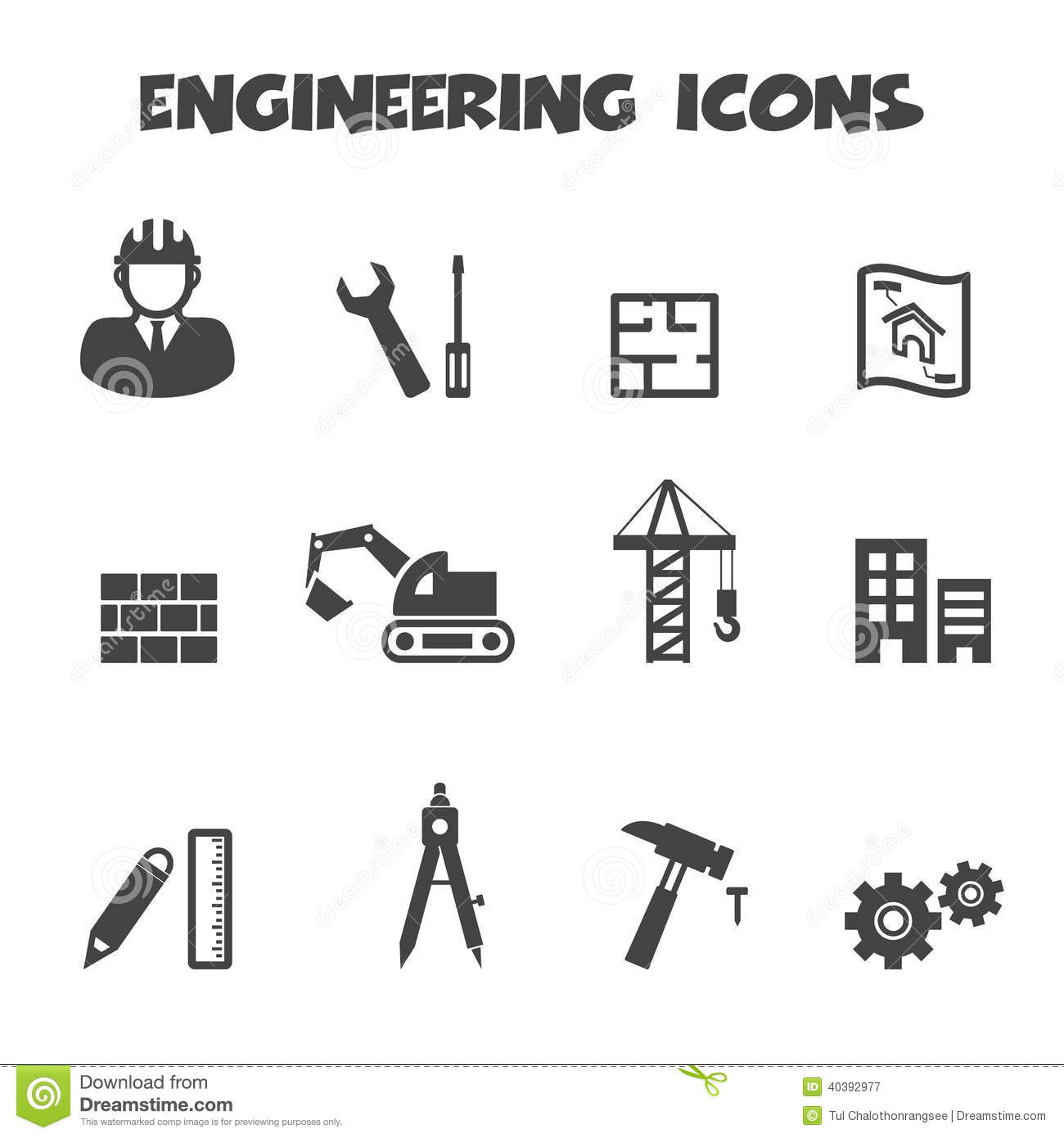 Engineering Icons Stock Vector Illustration Of Machinery 49545960