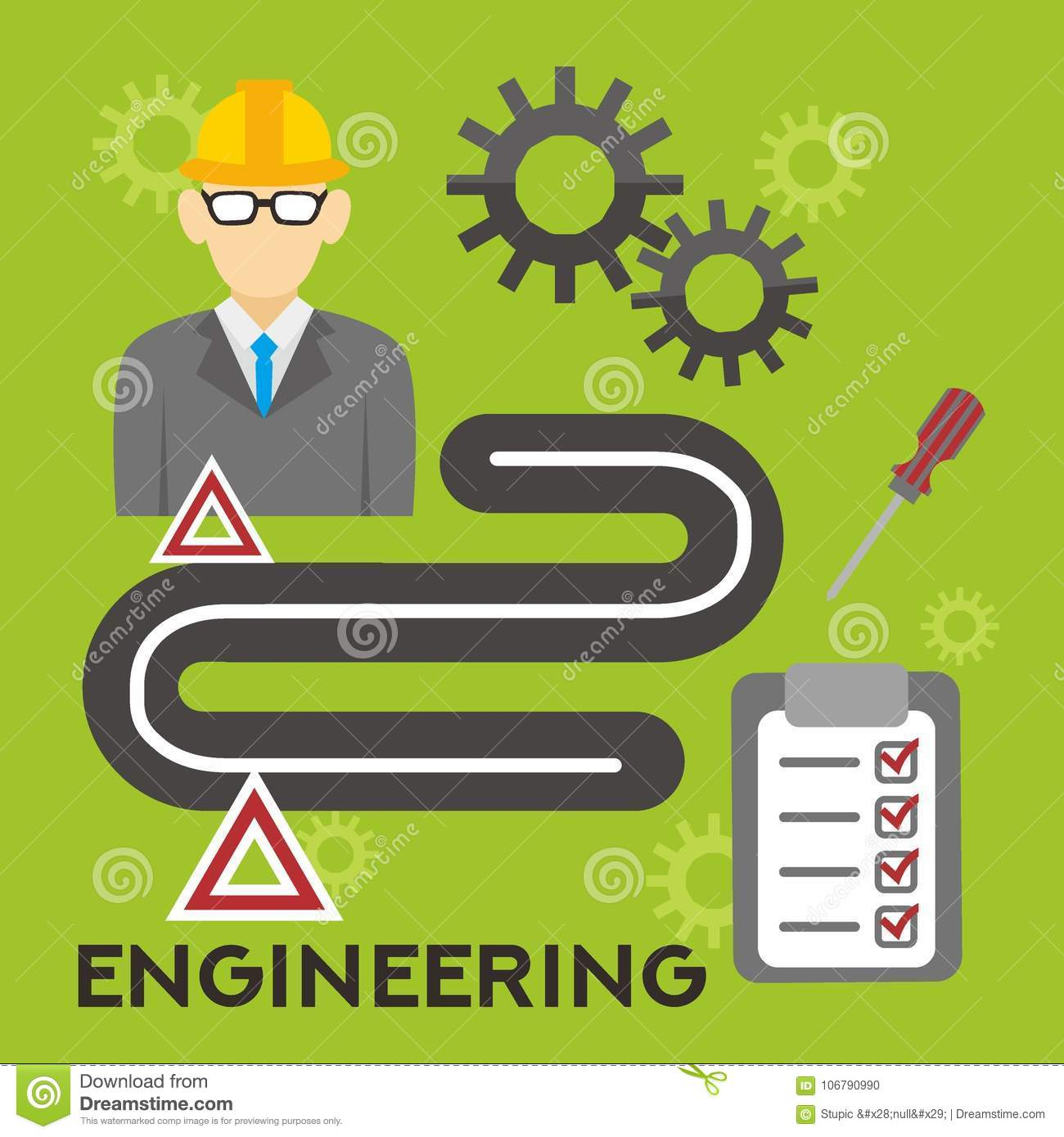 Engineering illustration vector art logo template and illustration download comp malvernweather Images