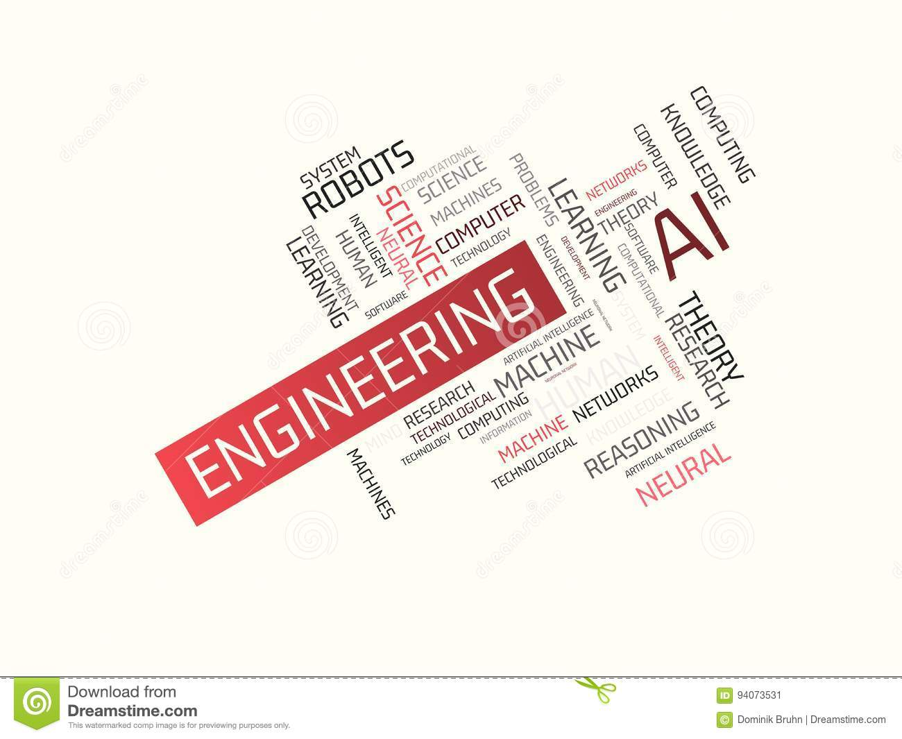 Engineering Image With Words Associated With The Topic Artificial
