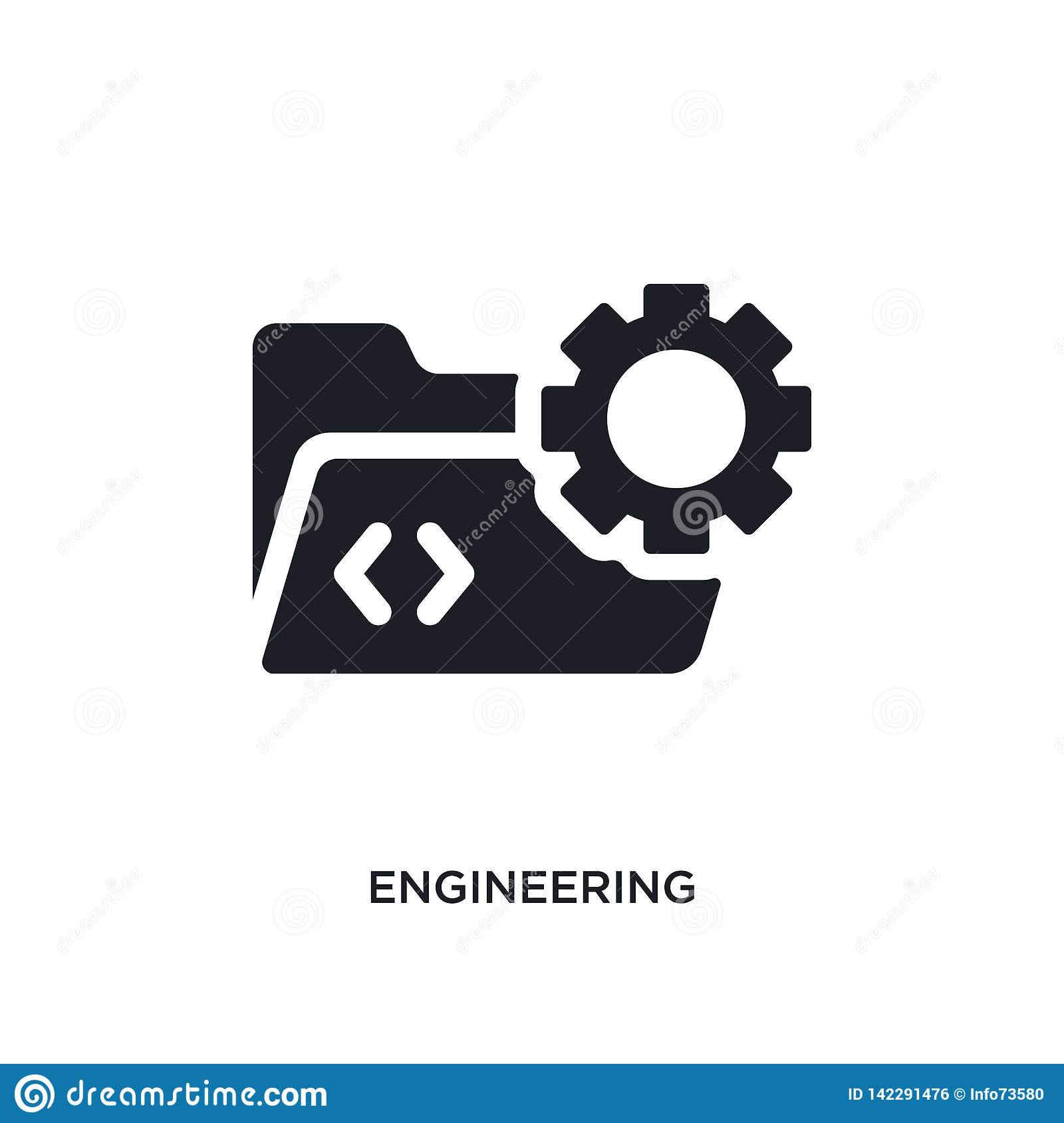 engineering isolated icon. simple element illustration from programming concept icons. engineering editable logo sign symbol