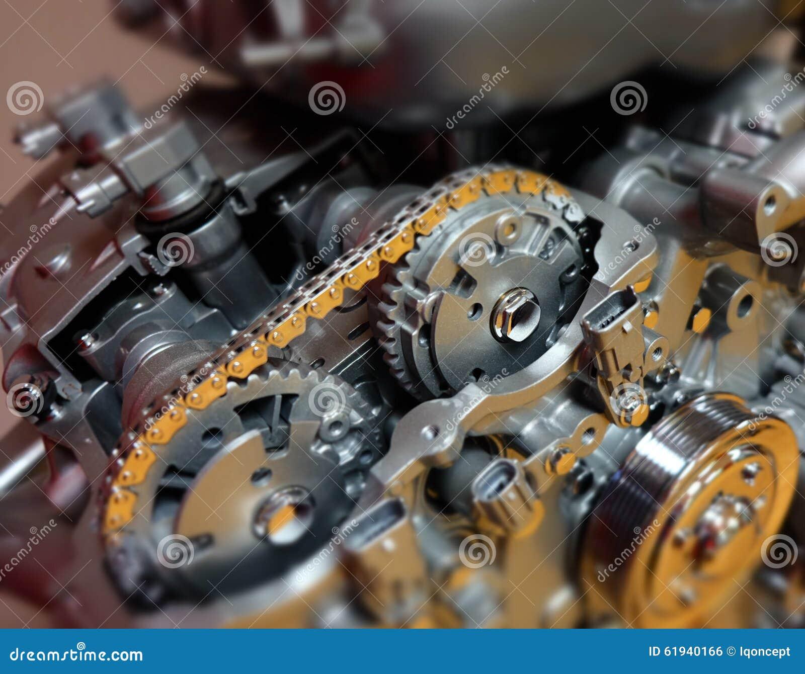 Engineering Motor Gears Automotive Designing Power Stock