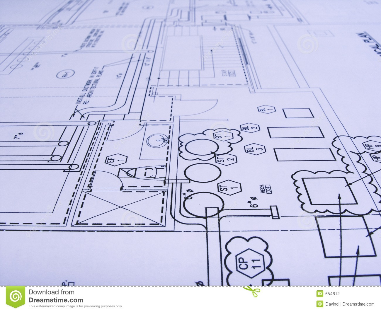 Engineering Plans Stock Photography Image 654812