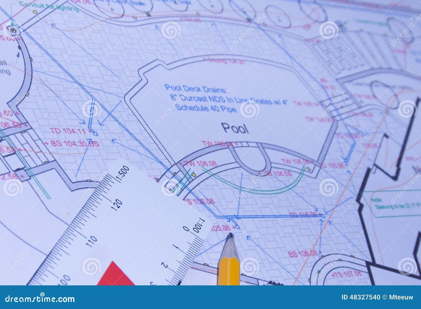 Engineering Plans Stock Illustration Illustration Of Concept 48327540