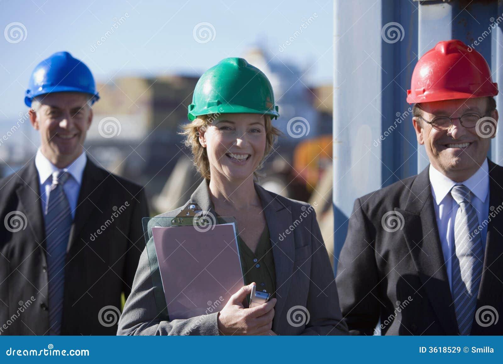 An engineering team on survey