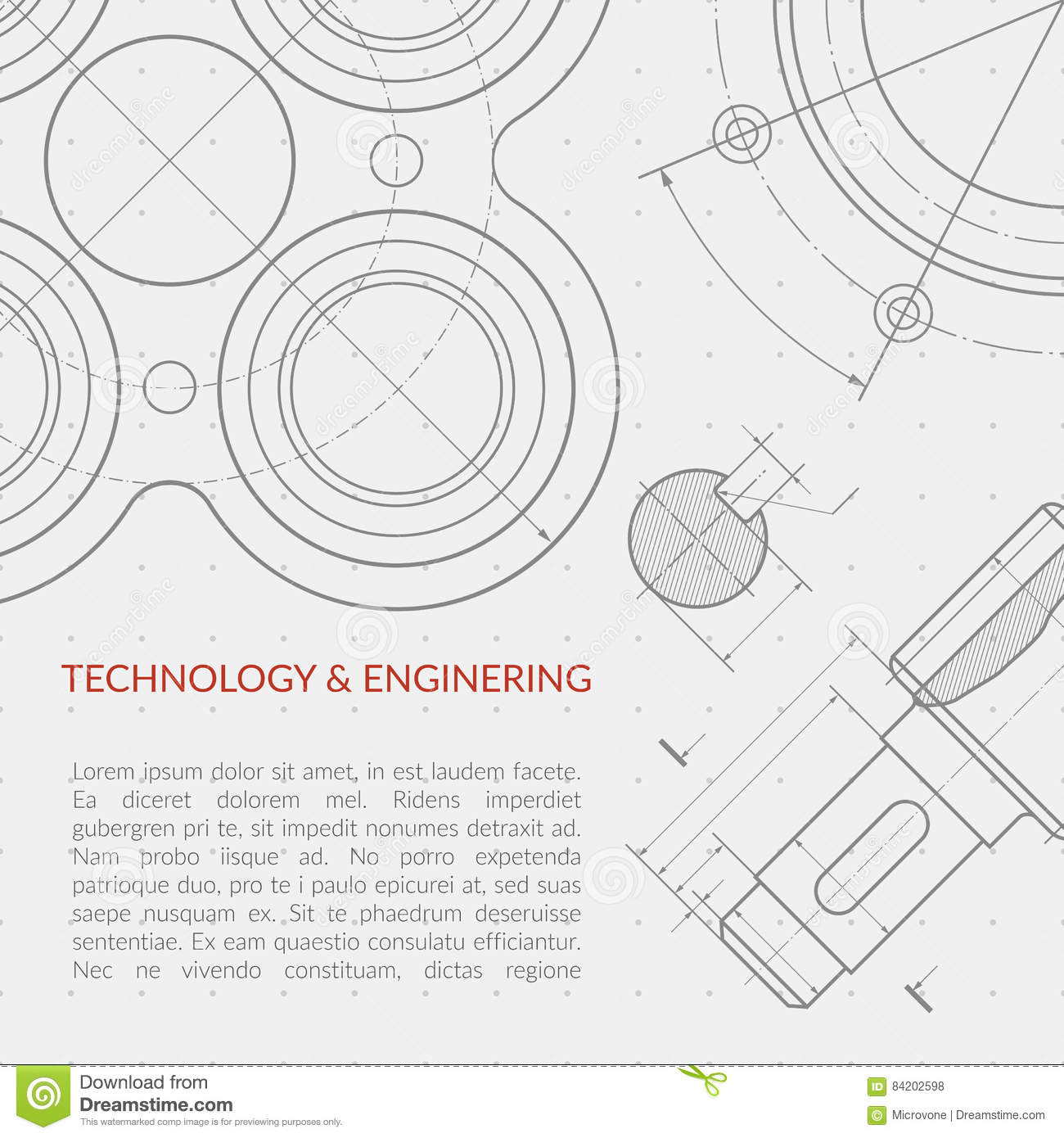 concept vector technical drawing cartoon vector