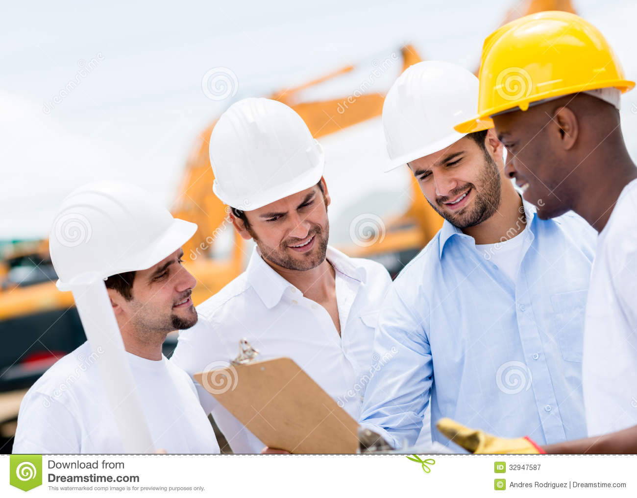 Architects Business Cards Engineers At A Construction Site Royalty Free Stock