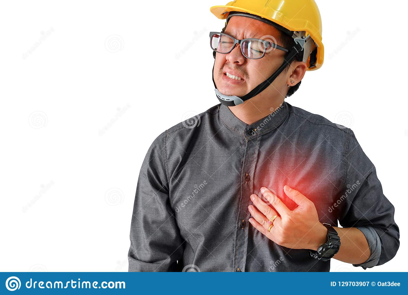 Engineers man with symptoms of heart disease