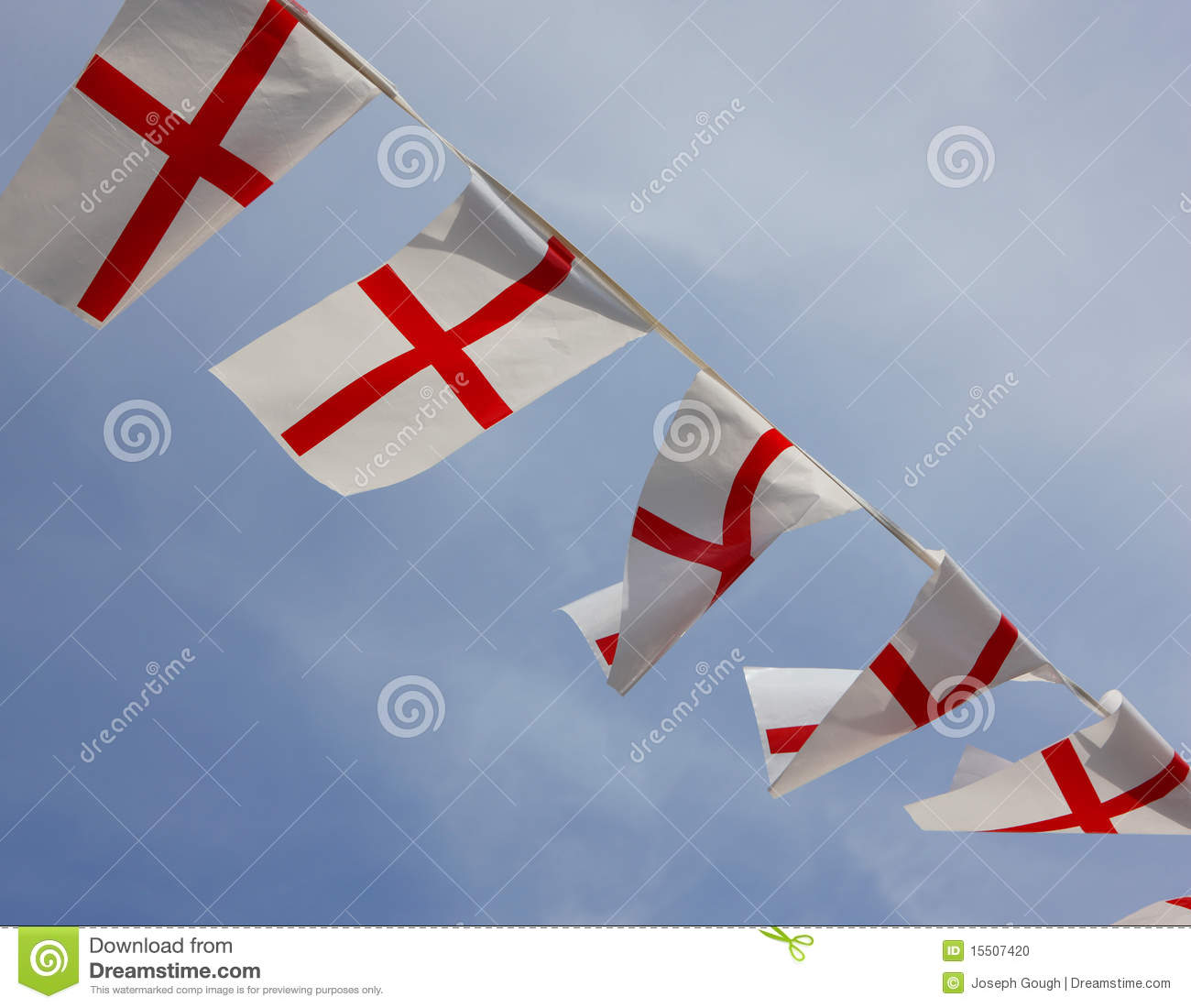 England Bunting Flags