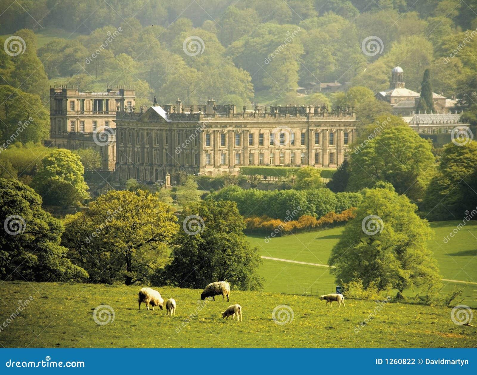England Derbyshire chatsworth Haus