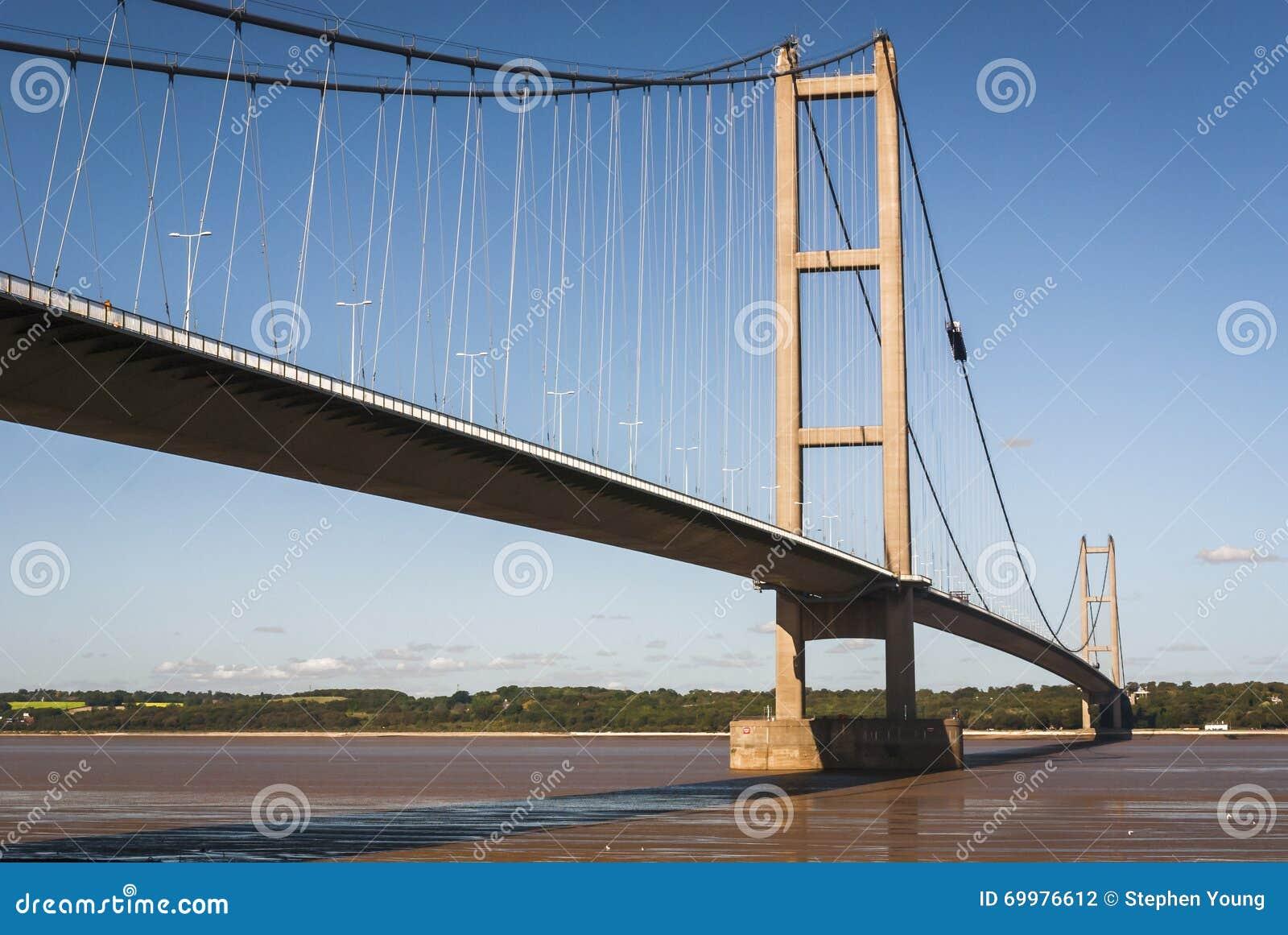 England. East Yorkshire. 2010. The Humber Bridge