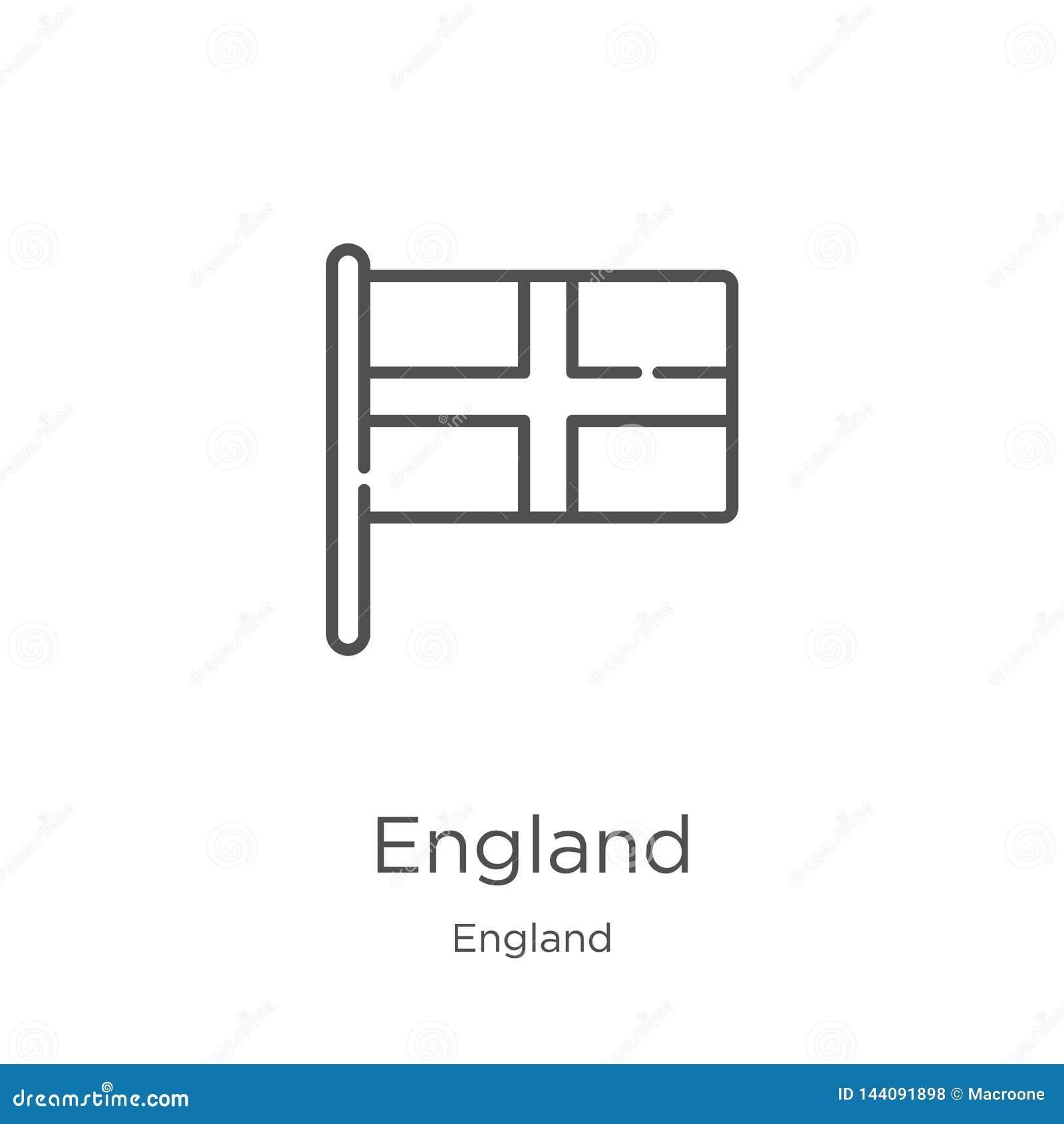 England-Ikonenvektor von England-Sammlung Dünne Linie England-Entwurfsikonen-Vektorillustration Entwurf, dünne Linie England-Ikon