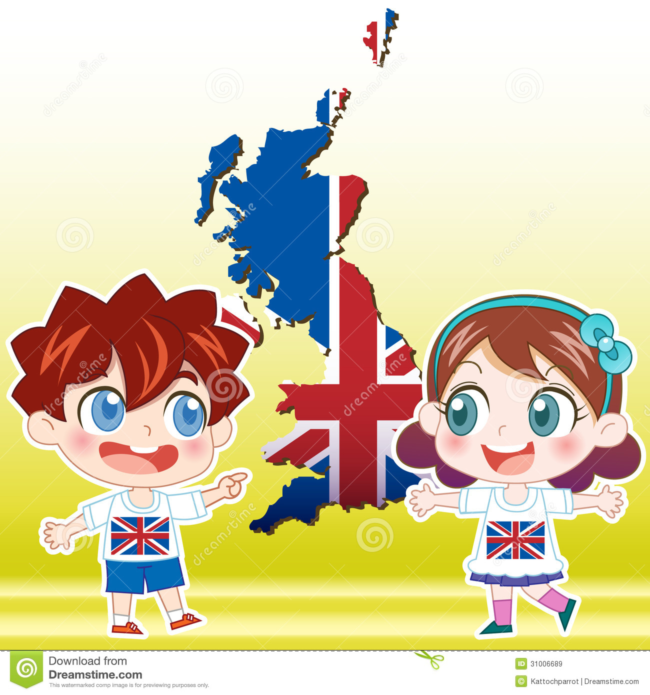 Kids Map Of England.England Kids Stock Vector Illustration Of Unique Clothes 31006689