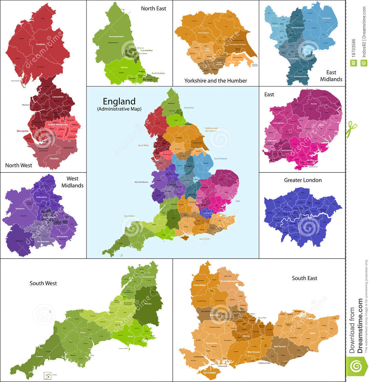 blank map of england counties royalty free stock photos image