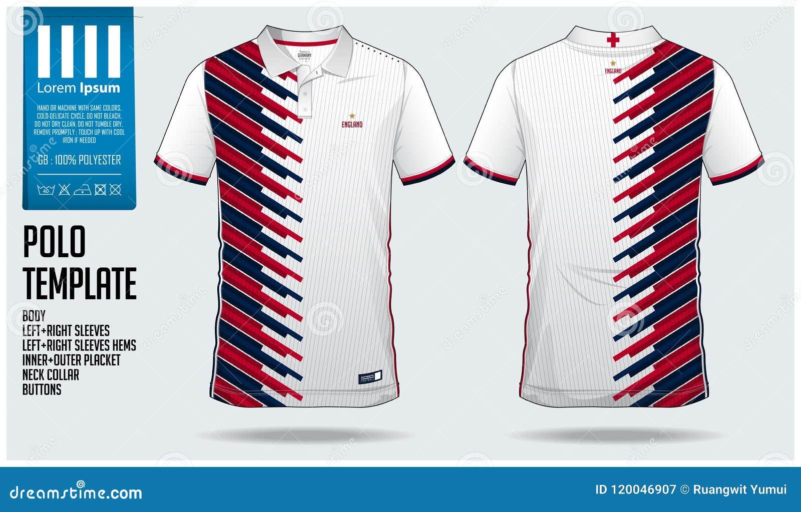 0feb008d5 England Team Polo T-shirt Sport Template Design For Soccer Jersey ...