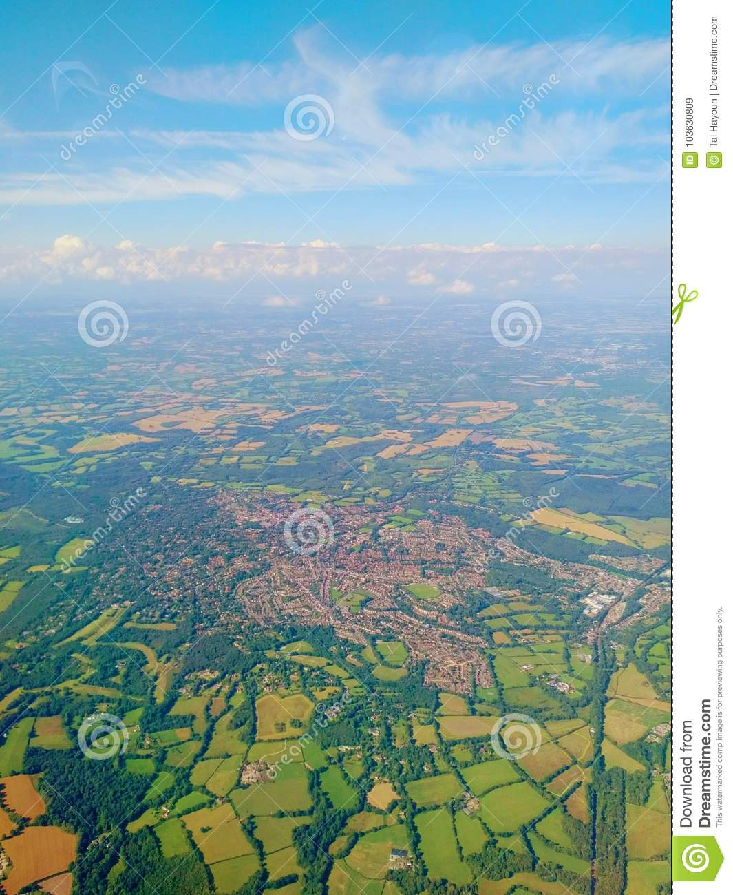 England from above