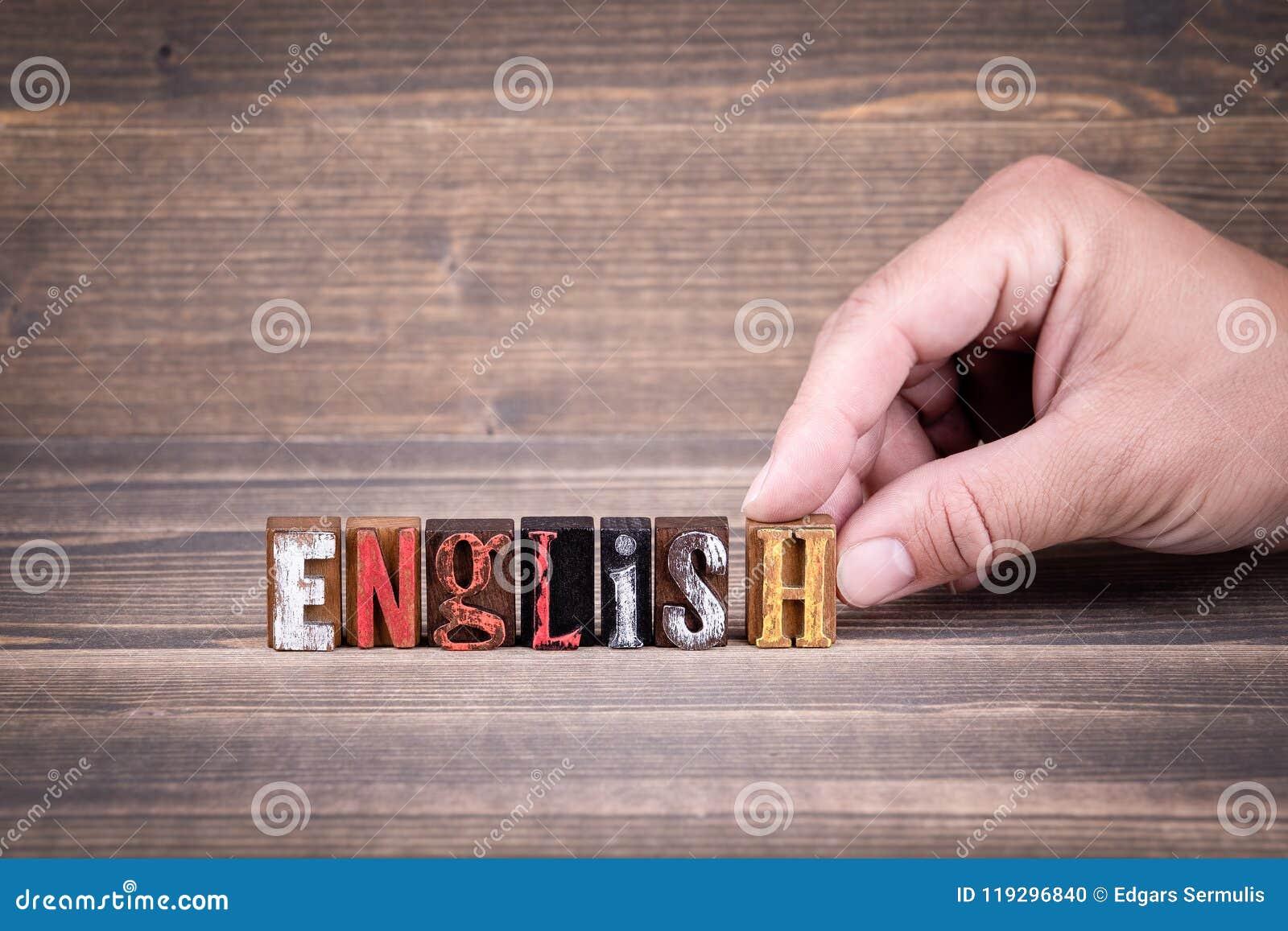 Englisch, Bildung und Geschäftskonzept