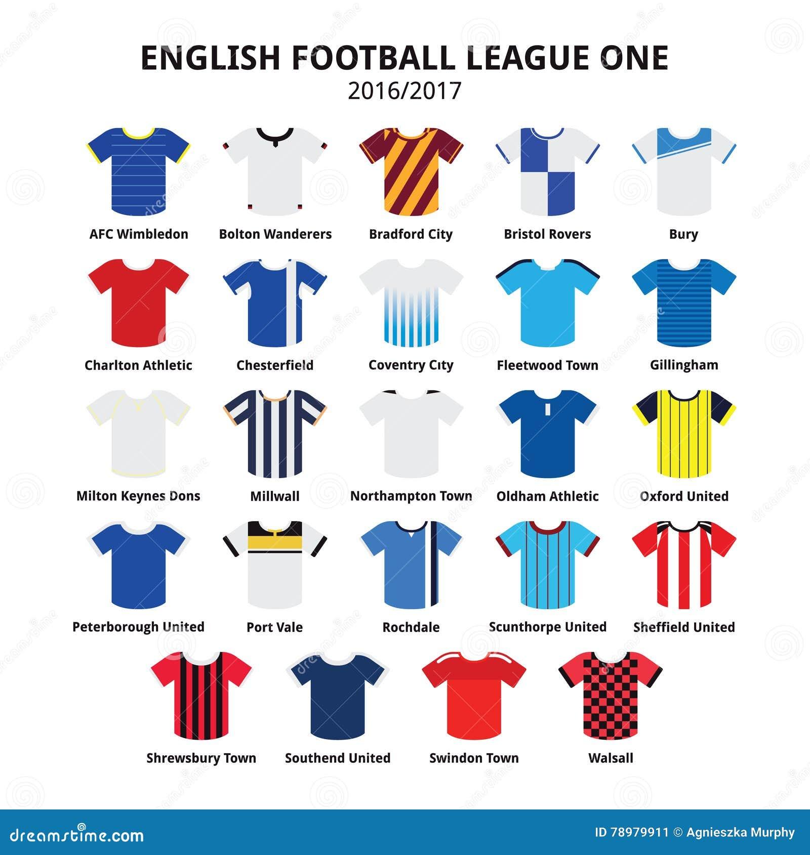 Englische Ikonen Der Fussball Ligaeine Trikots 2016 2017