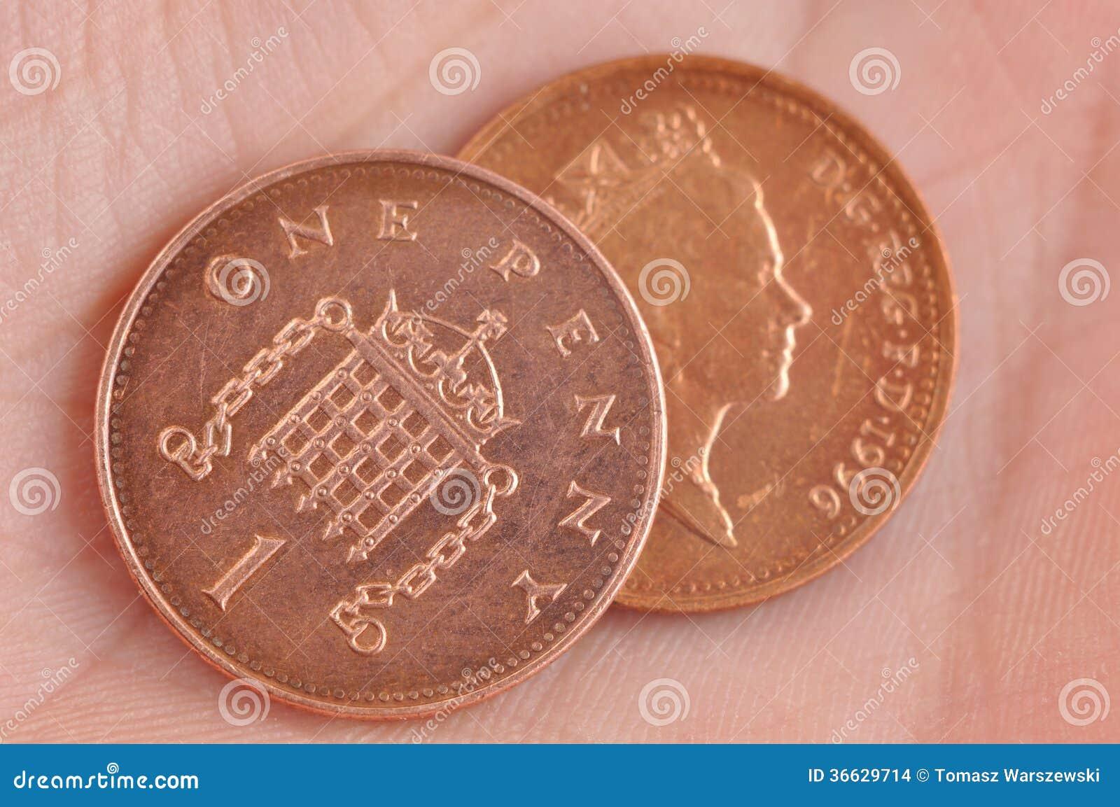 Englische Münzen Stockfoto Bild Von Leistung Zinsen 36629714