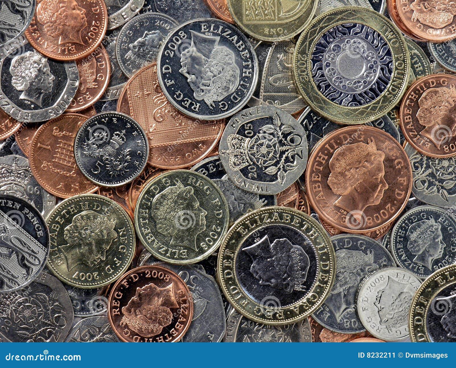 Englische Münzen Stockbild Bild Von Zerstößt Metall 8232211