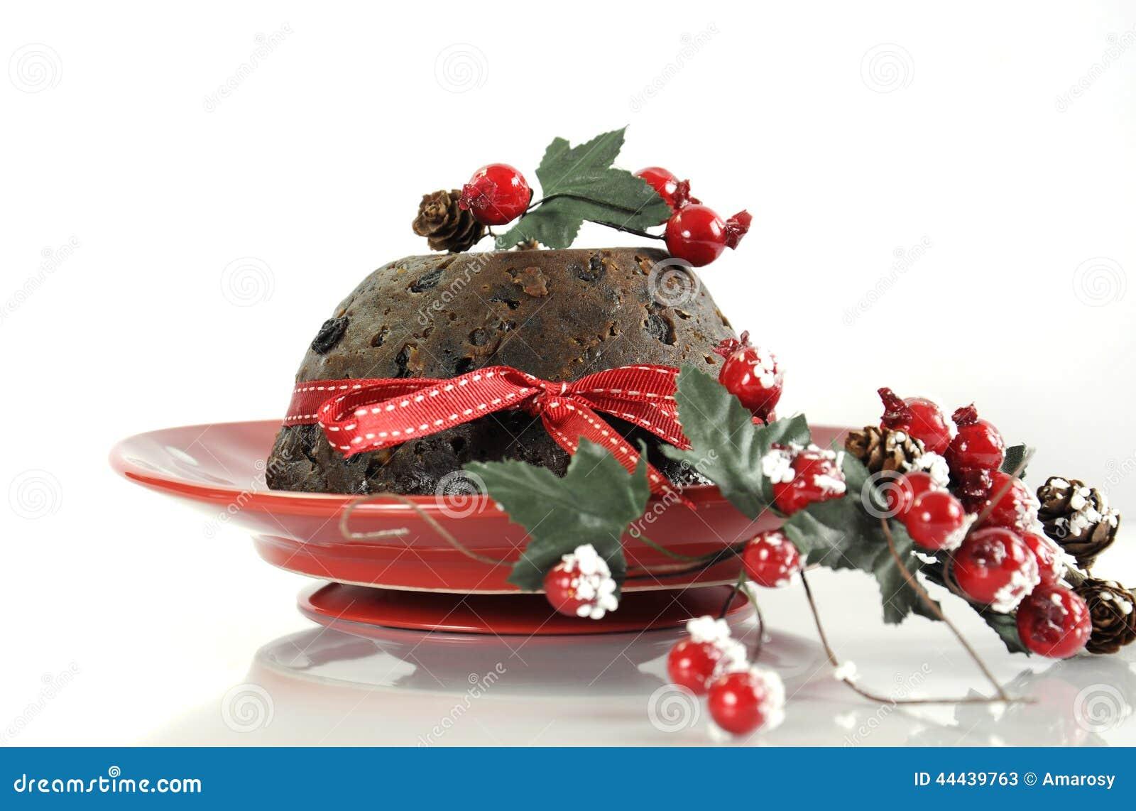 englischer art weihnachts plum pudding nachtisch stockbild. Black Bedroom Furniture Sets. Home Design Ideas
