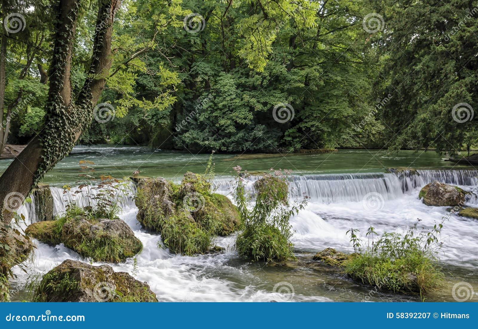 Englischer Garten Englischer Garten Wasserfall Munchen Deutschland