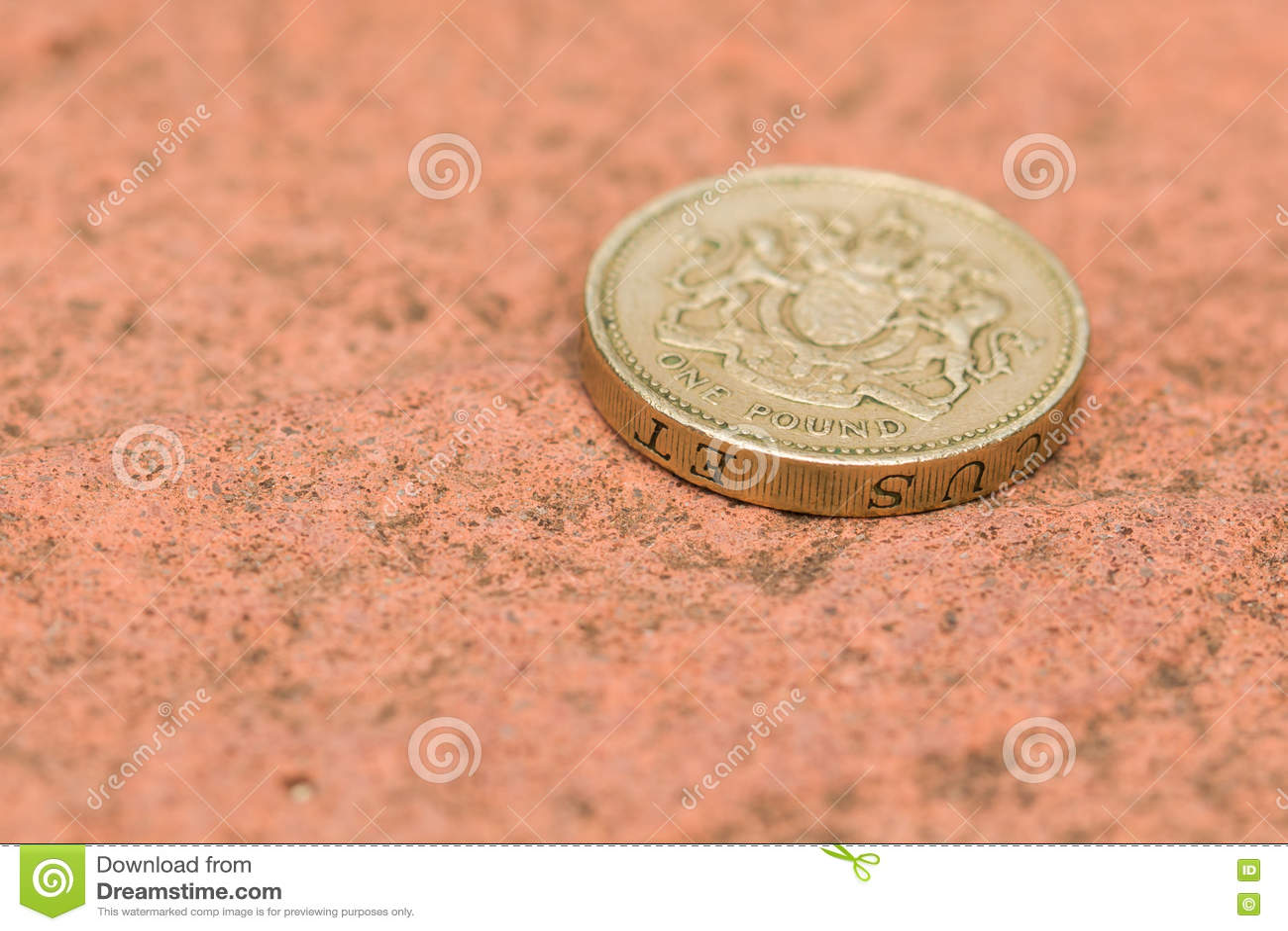 Englischer Pfund Münzen Abschluss Oben Stockfoto Bild Von änderung