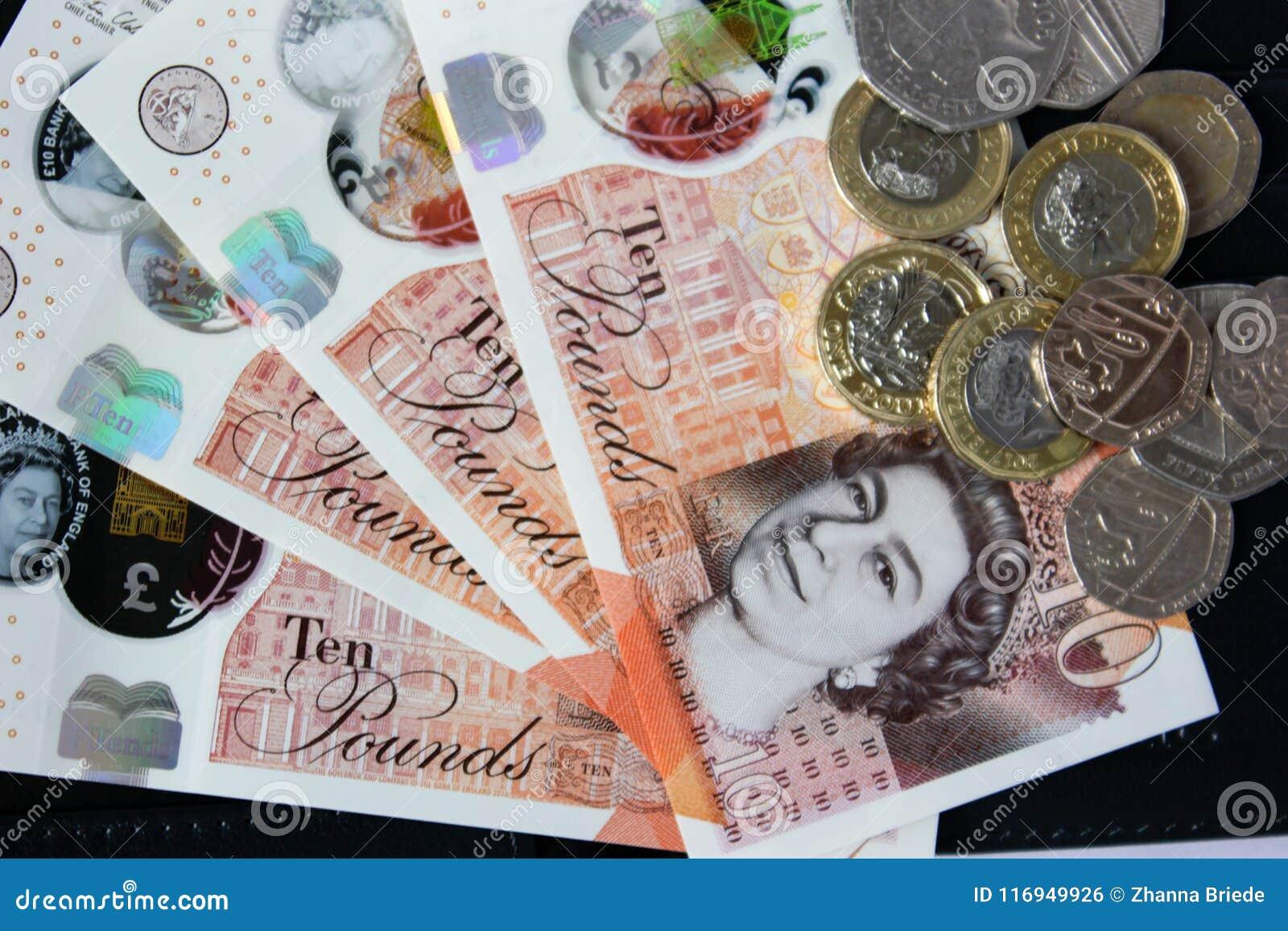 Englisches Geld Und Münzen Redaktionelles Foto Bild Von Königreich