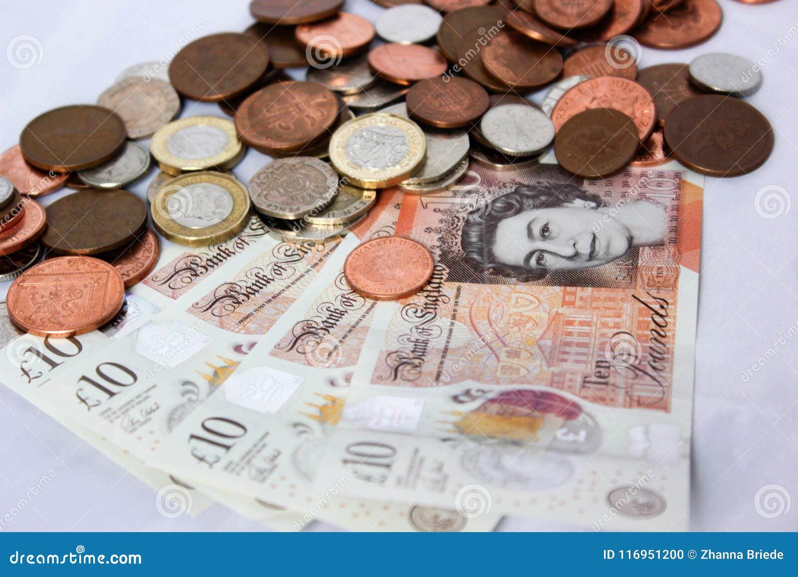 Englisches Geld Und Münzen Redaktionelles Bild Bild Von Englisch