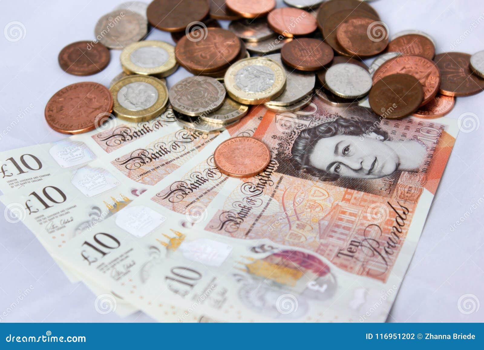 Englisches Geld Und Münzen Redaktionelles Stockfotografie Bild Von