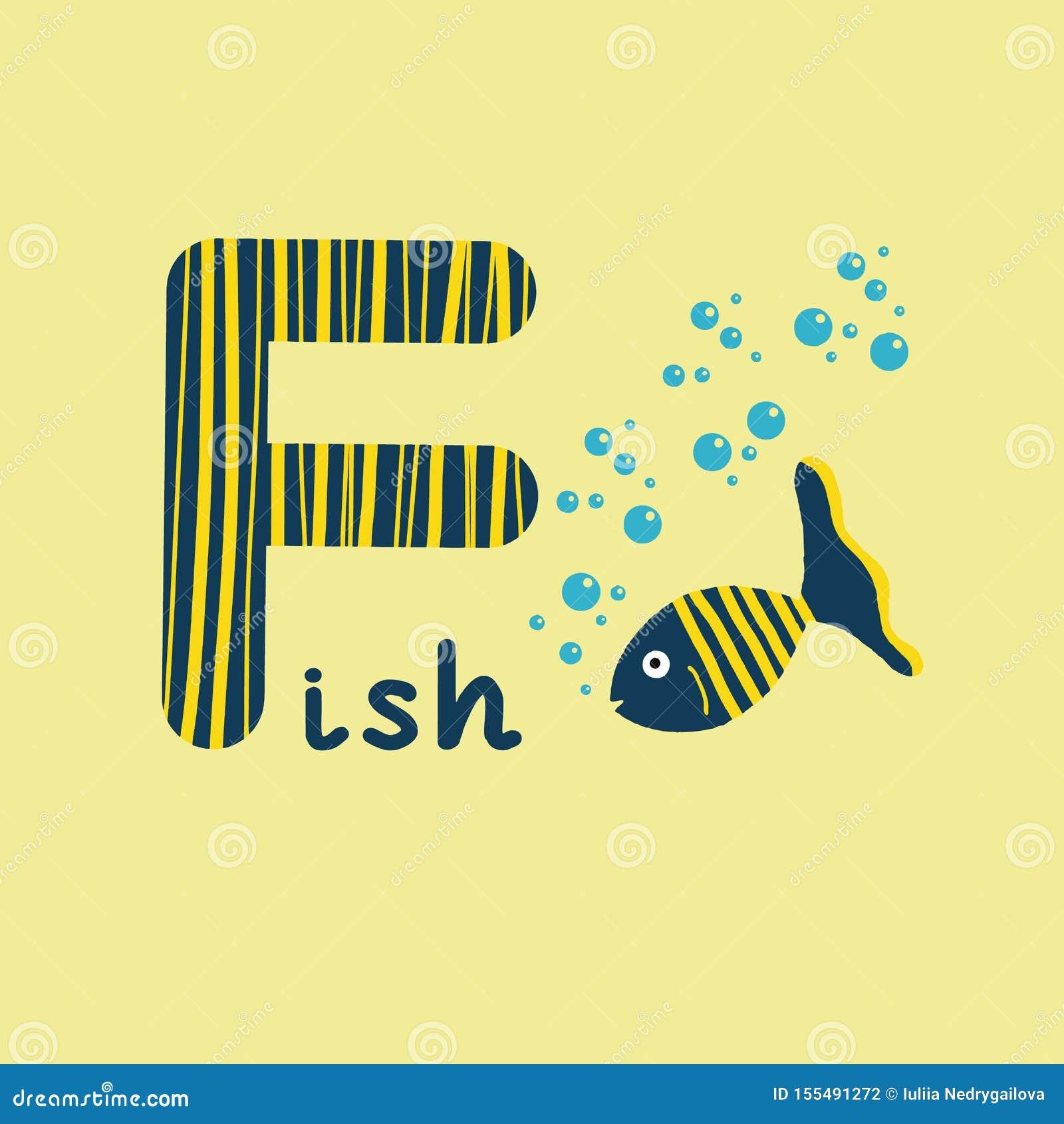 English Alphabet For Children Education, Letter F ...