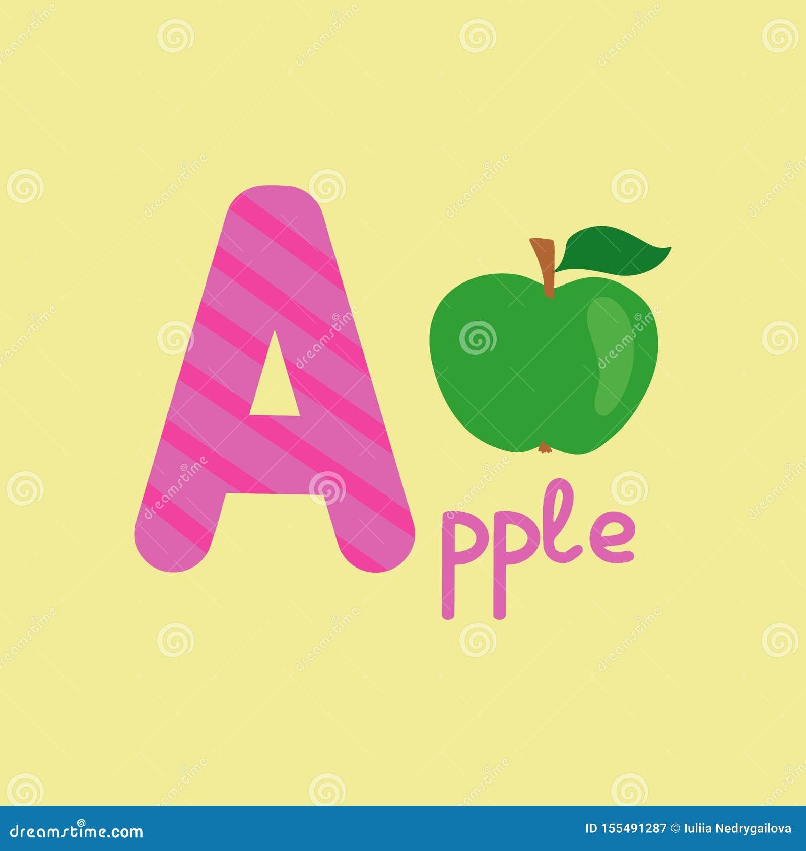 English Alphabet For Children Education, Letter A ...