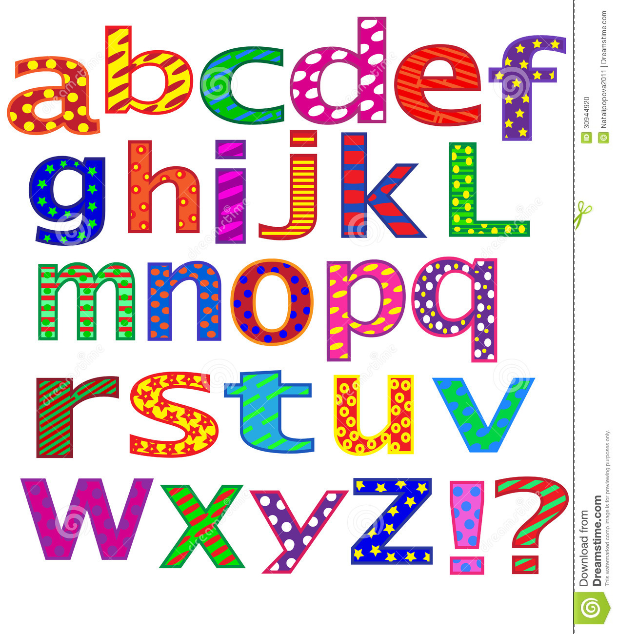 English Alphabet. Letters. Stock Photo - Image: 30944920