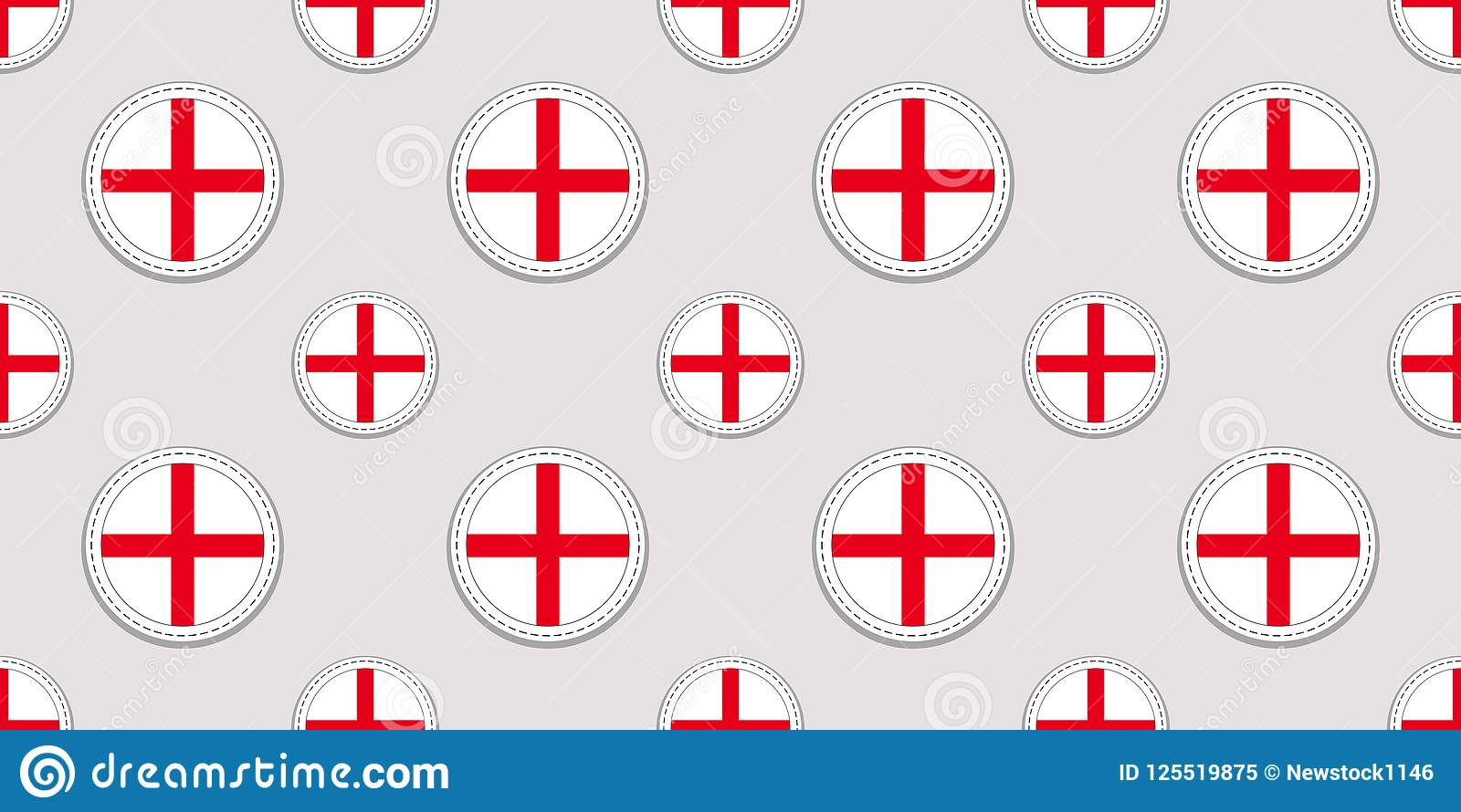 English background. England flag seamless pattern. Vector round icons. Geometric circle symbols. Texture for language courses, spo