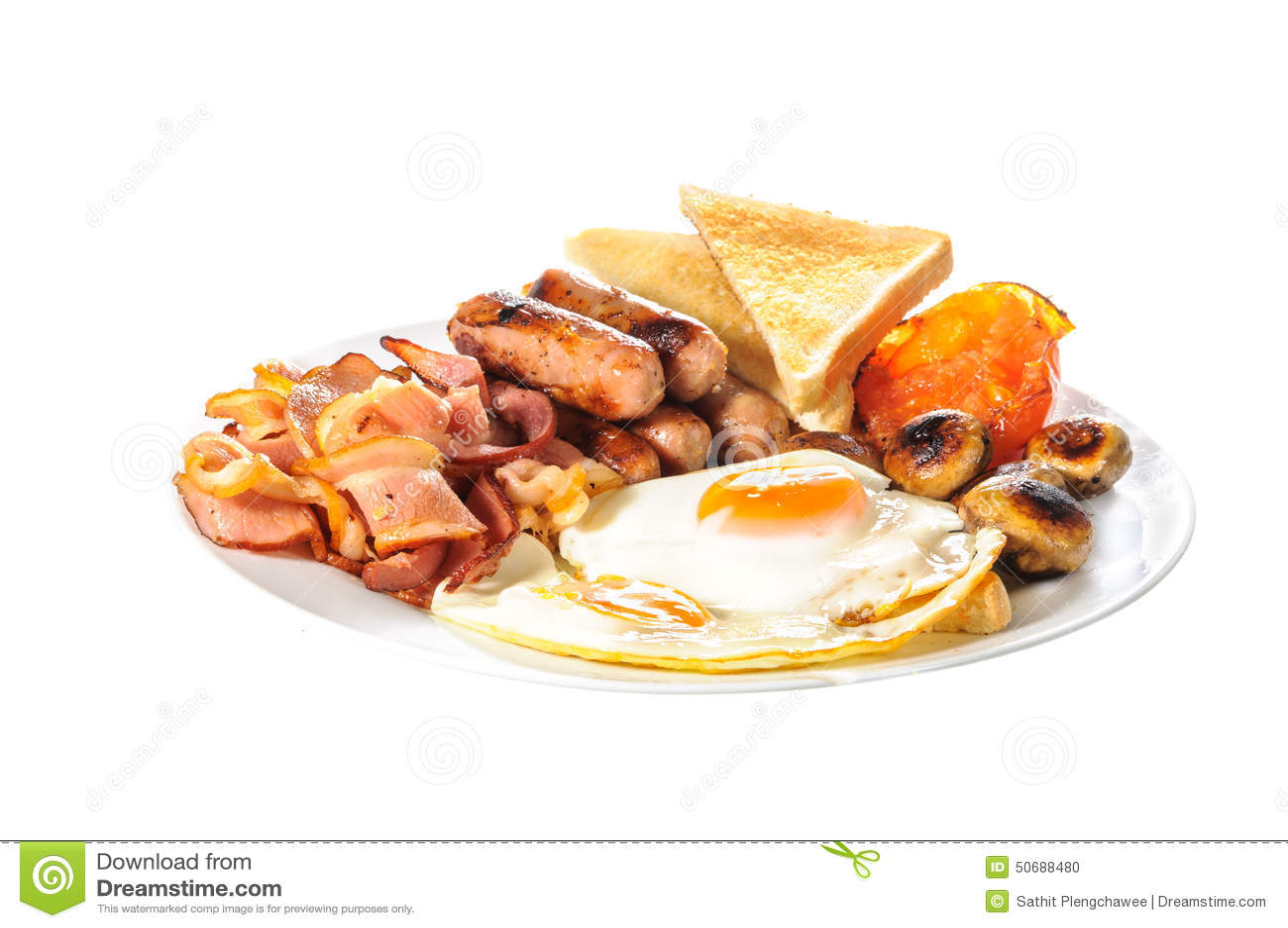 English Big Breakfast Stock Photo - Image: 50688480