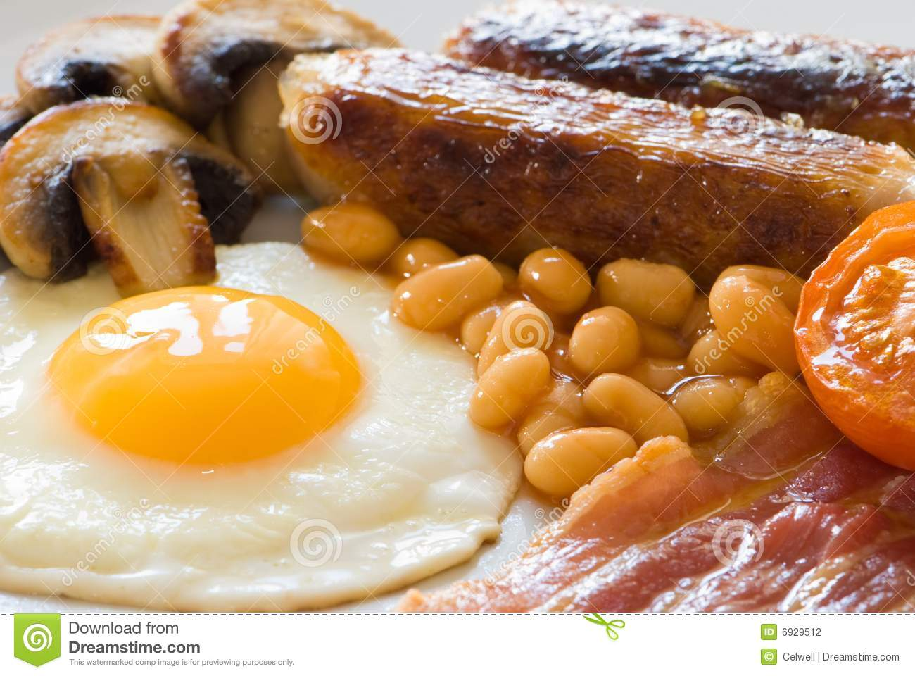 Download English Breakfast Close Up stock photo. Image of bacon - 6929512